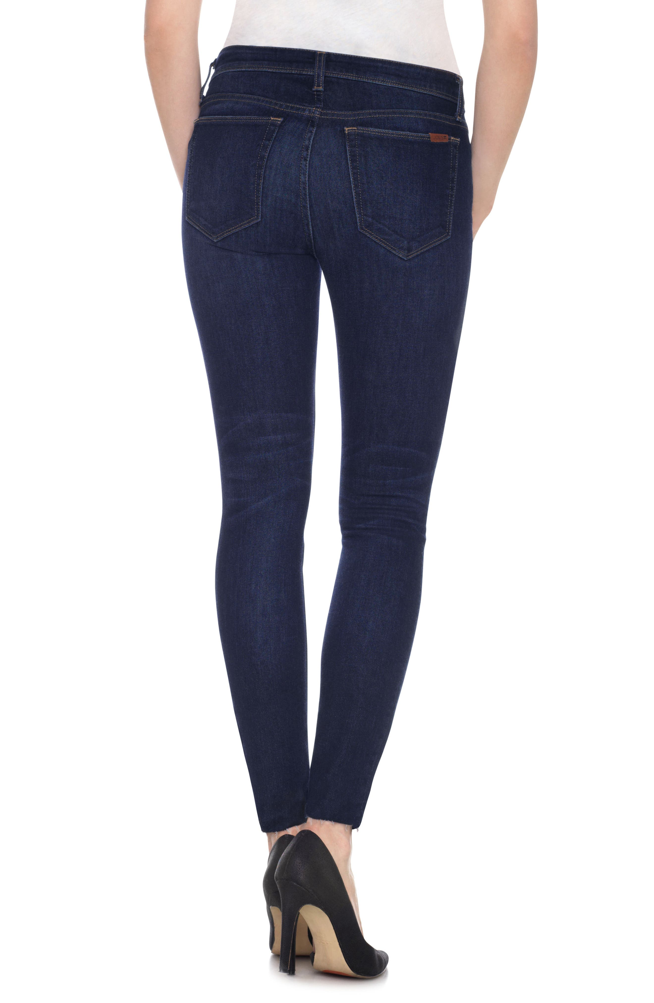 Icon Ankle Raw Hem Skinny Jeans,                             Alternate thumbnail 2, color,                             400