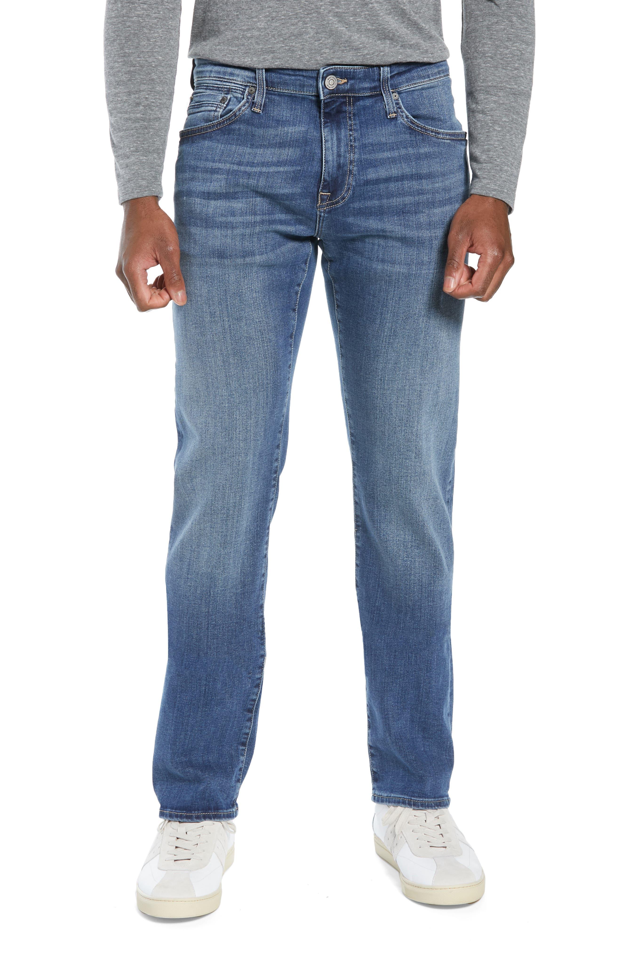 MAVI Zach Straight Leg Jeans In Mid Foggy Williamsburg
