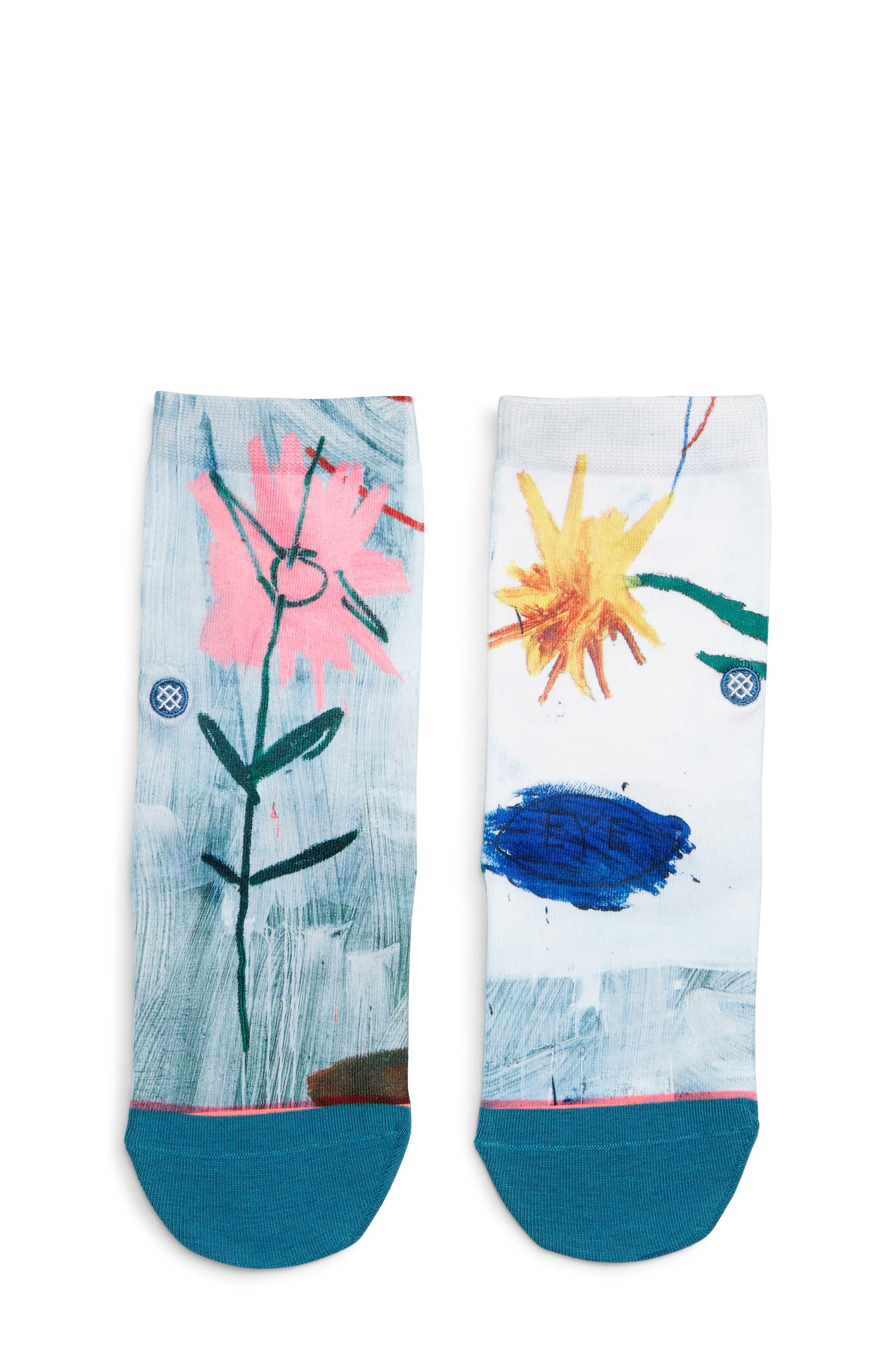 Open Bloom Socks,                         Main,                         color, BLUE