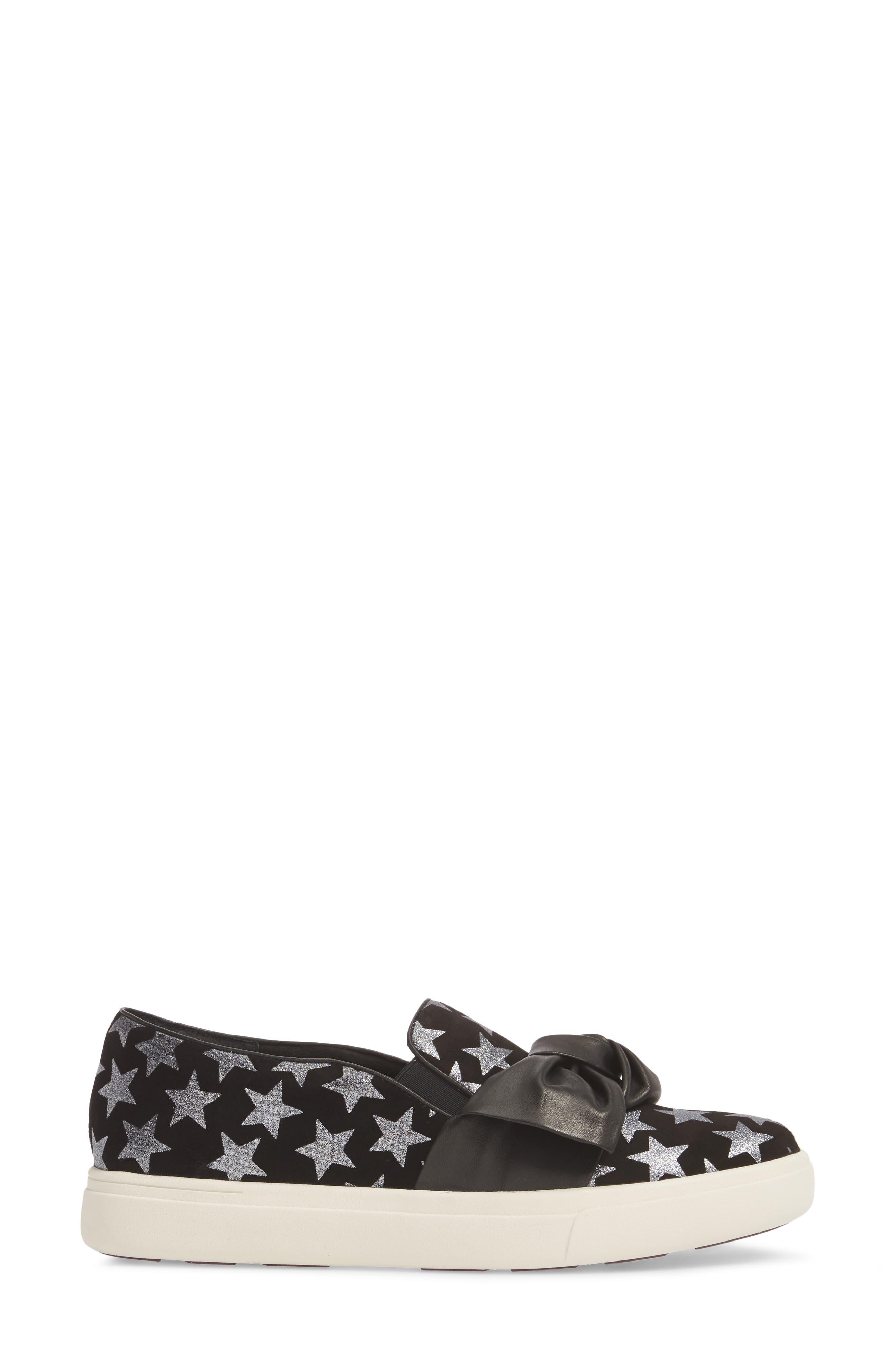 Odelet Slip-On Sneaker,                             Alternate thumbnail 3, color,                             BLACK/ PEWTER SUEDE