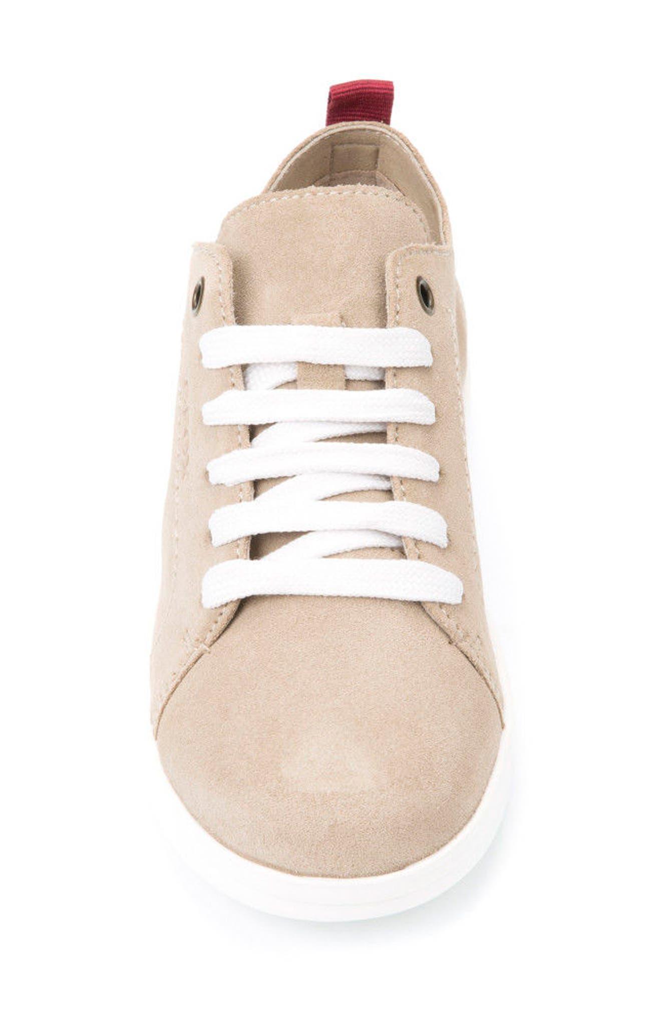 Anthor Low Top Sneaker,                             Alternate thumbnail 4, color,                             BEIGE