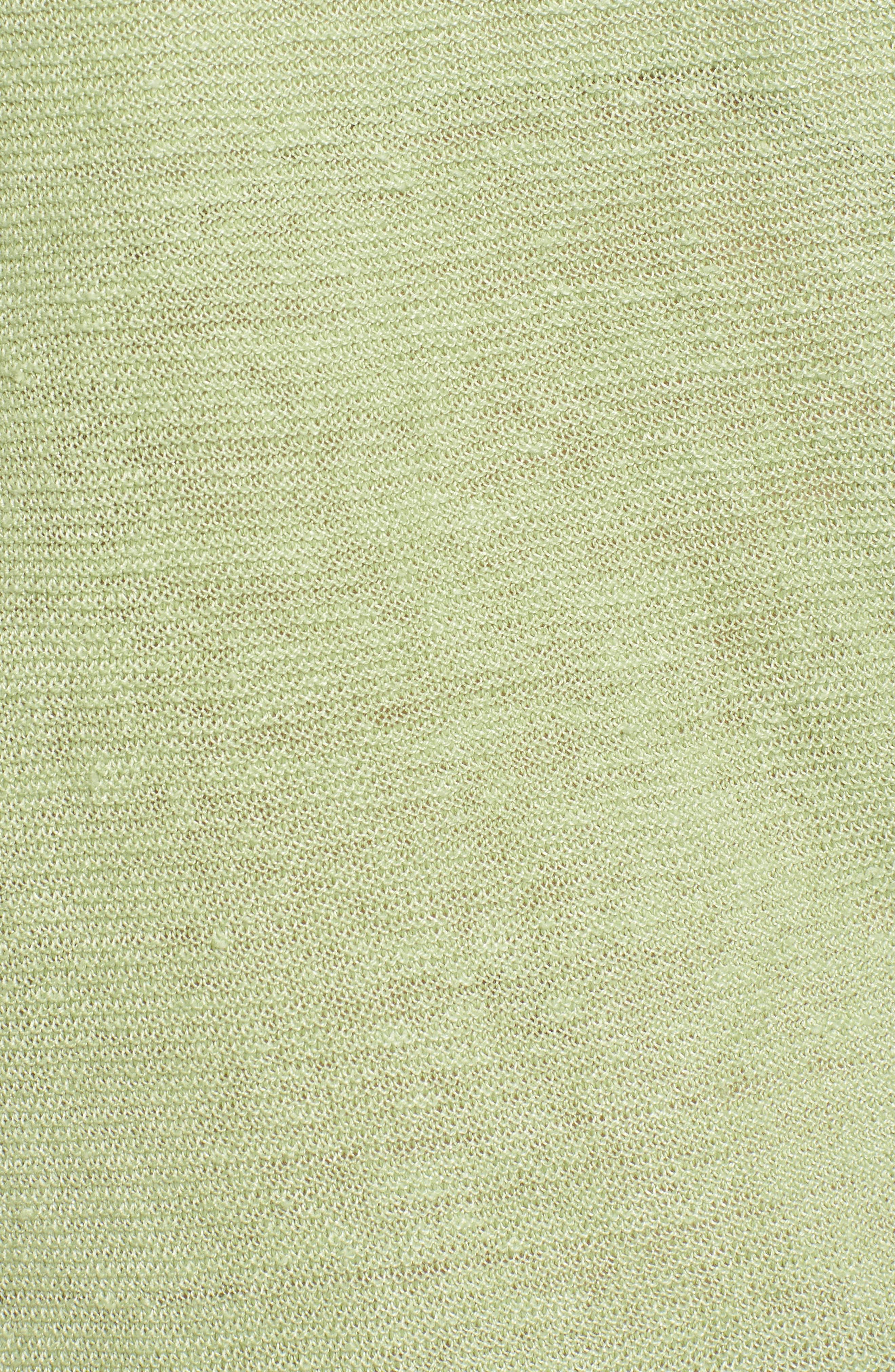 V-Neck Organic Linen Top,                             Alternate thumbnail 29, color,