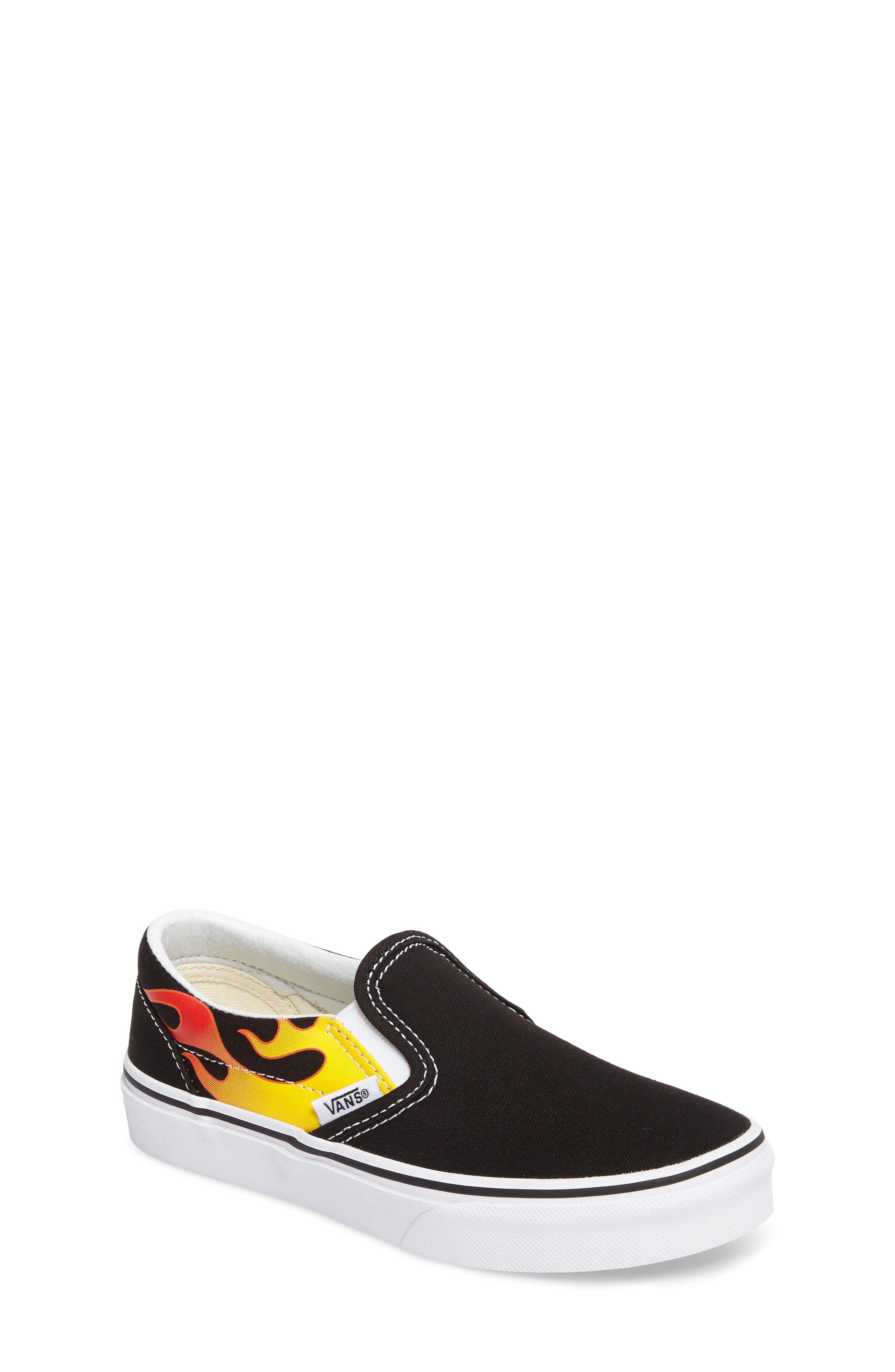 Flame Classic Slip-On Sneaker,                             Main thumbnail 1, color,                             002