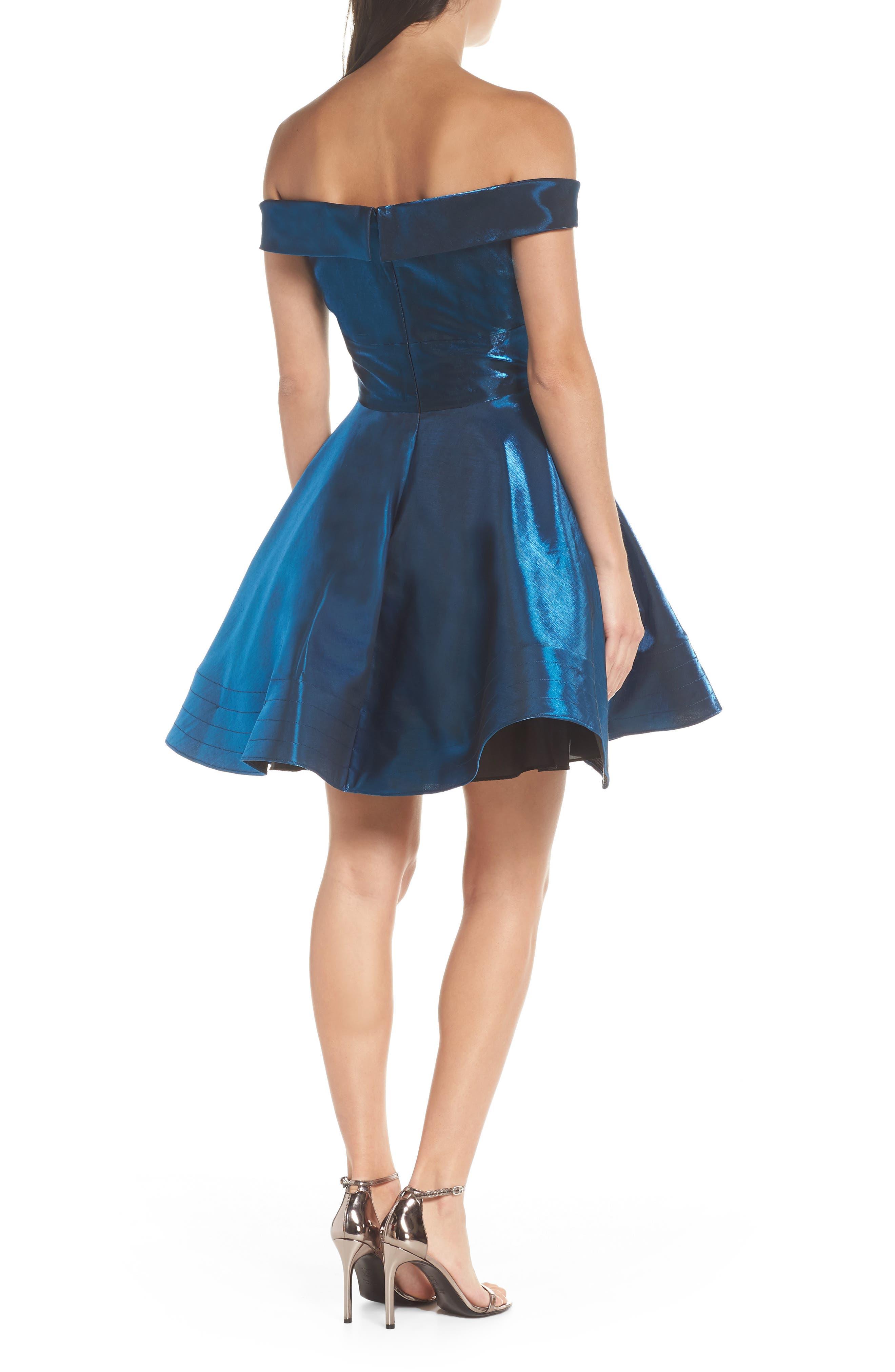 Off the Shoulder Shimmer Party Dress,                             Alternate thumbnail 2, color,                             450