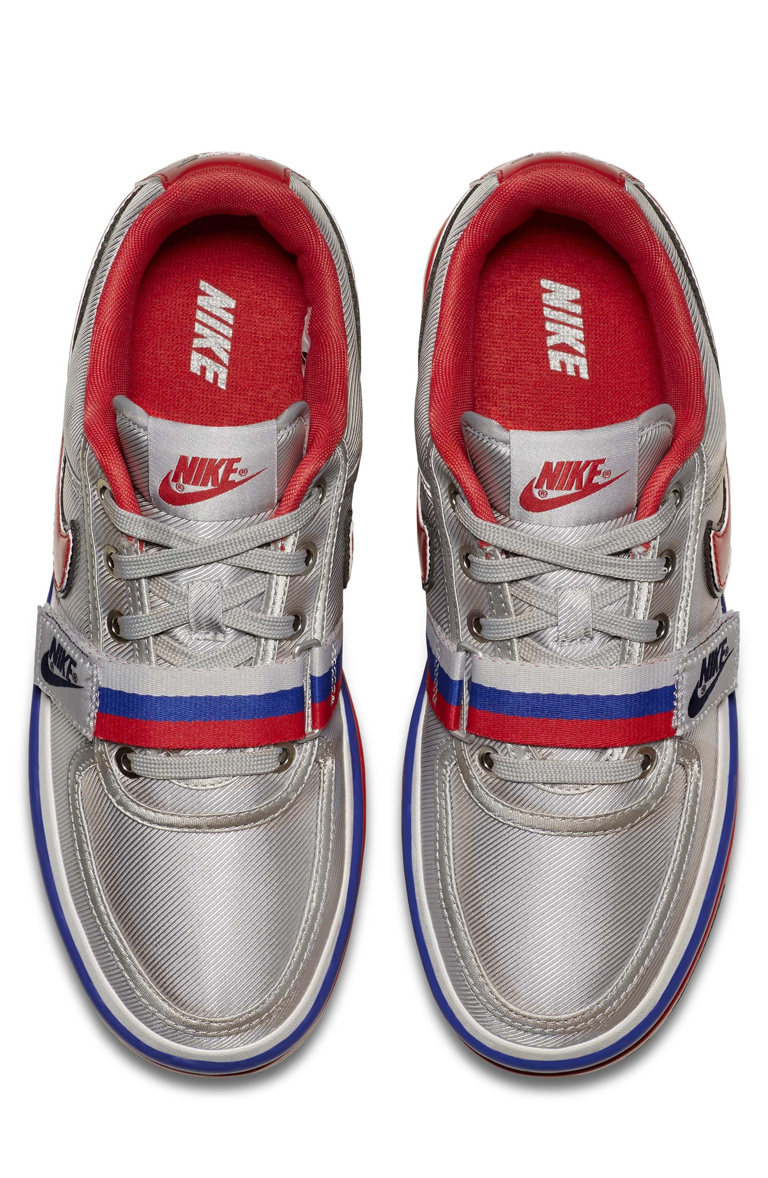 Vandal 2K Sneaker,                             Alternate thumbnail 4, color,                             SILVER/ UNIVERSITY RED