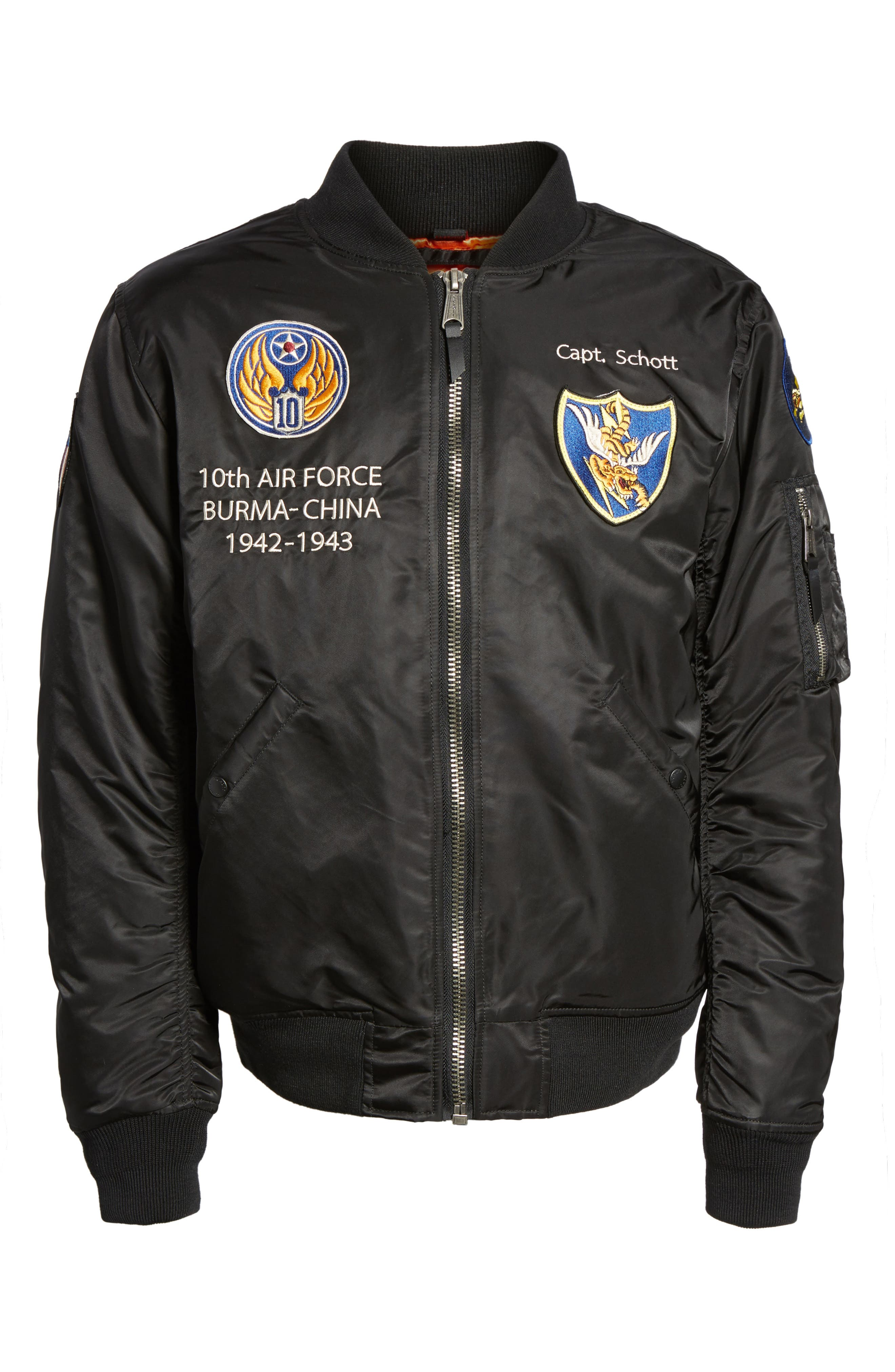 Highly Decorated Embroidered Flight Jacket,                             Alternate thumbnail 9, color,