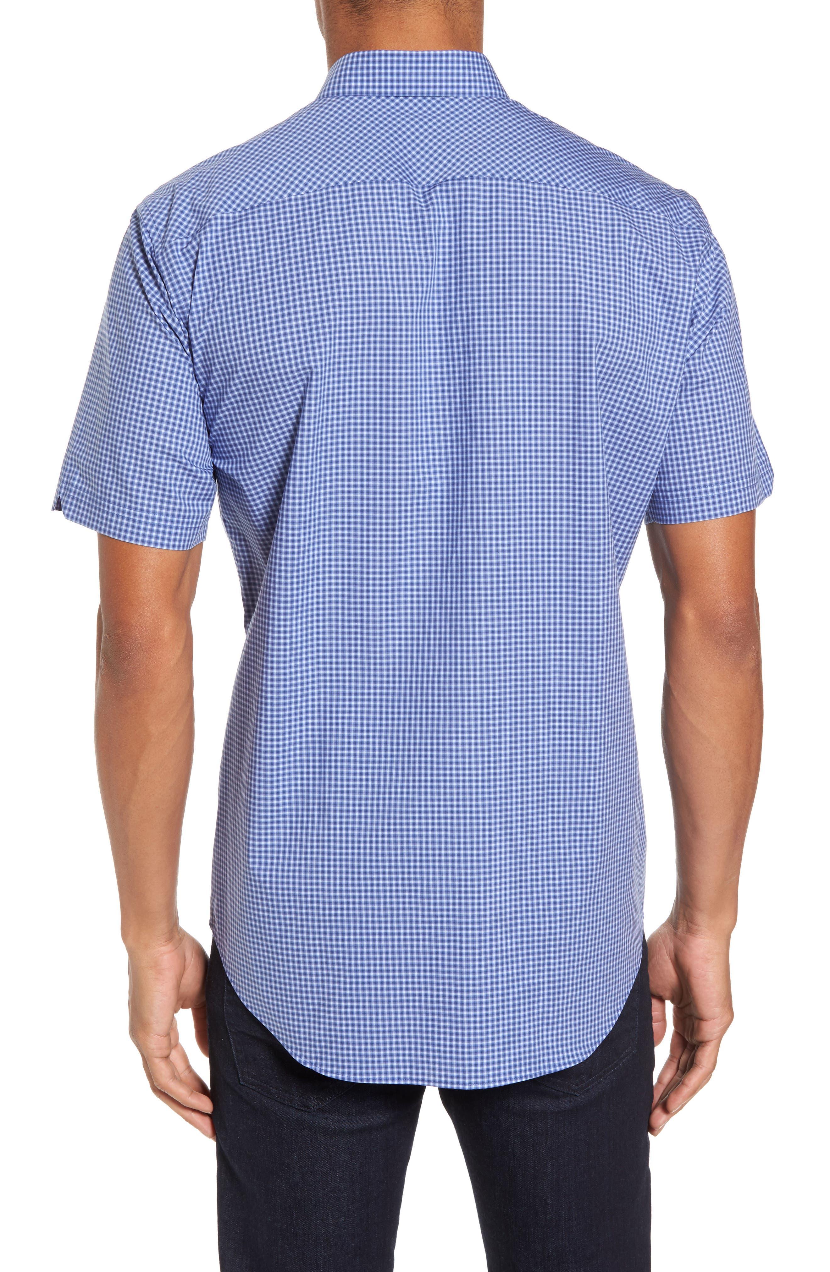 Ahmed Slim Fit Plaid Sport Shirt,                             Alternate thumbnail 4, color,