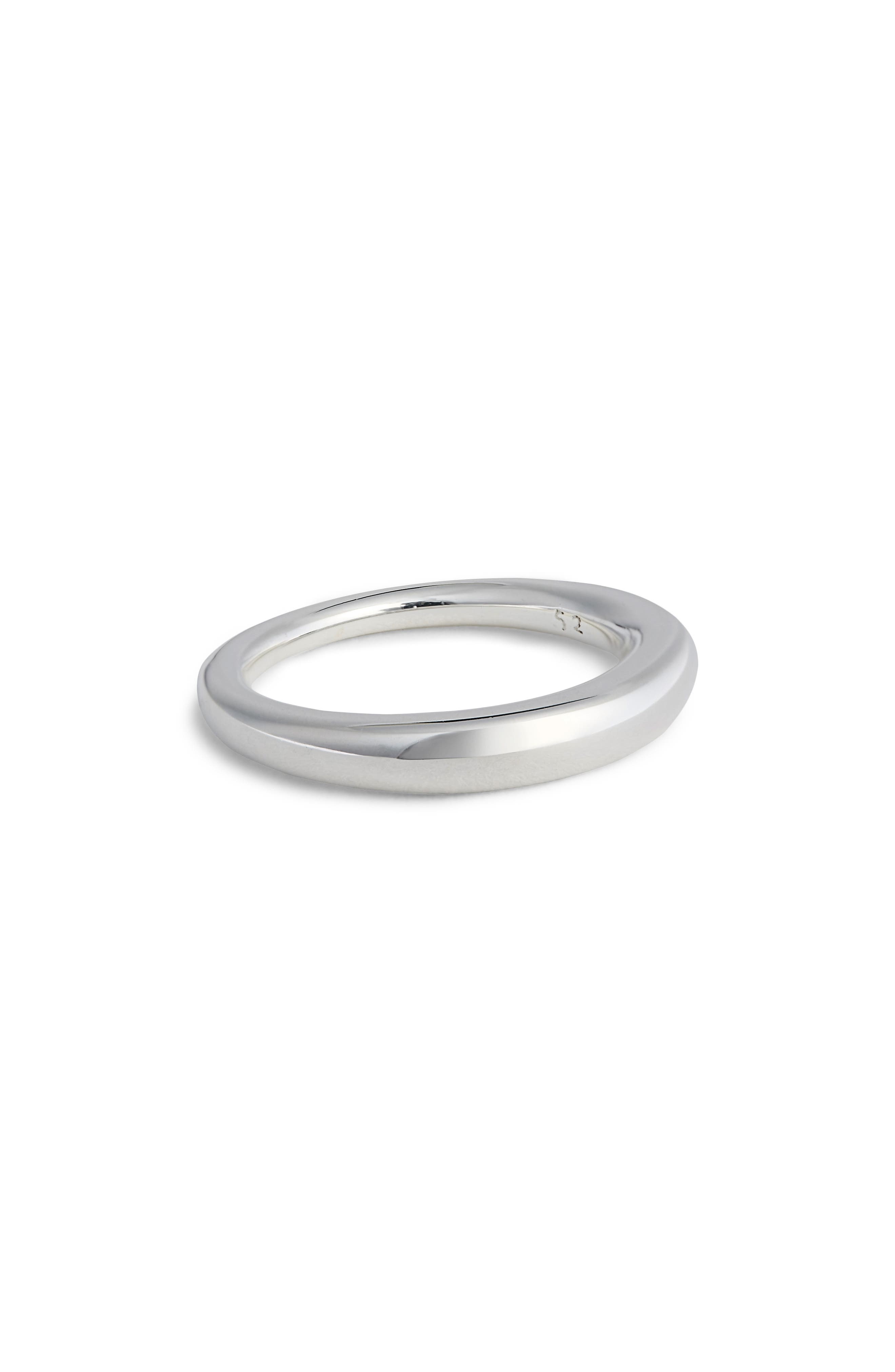Small Snake Polished Silver Ring,                         Main,                         color, POLISHED SILVER