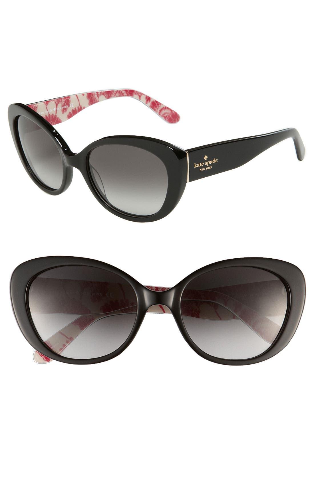 'franca 2' retro sunglasses,                             Main thumbnail 1, color,