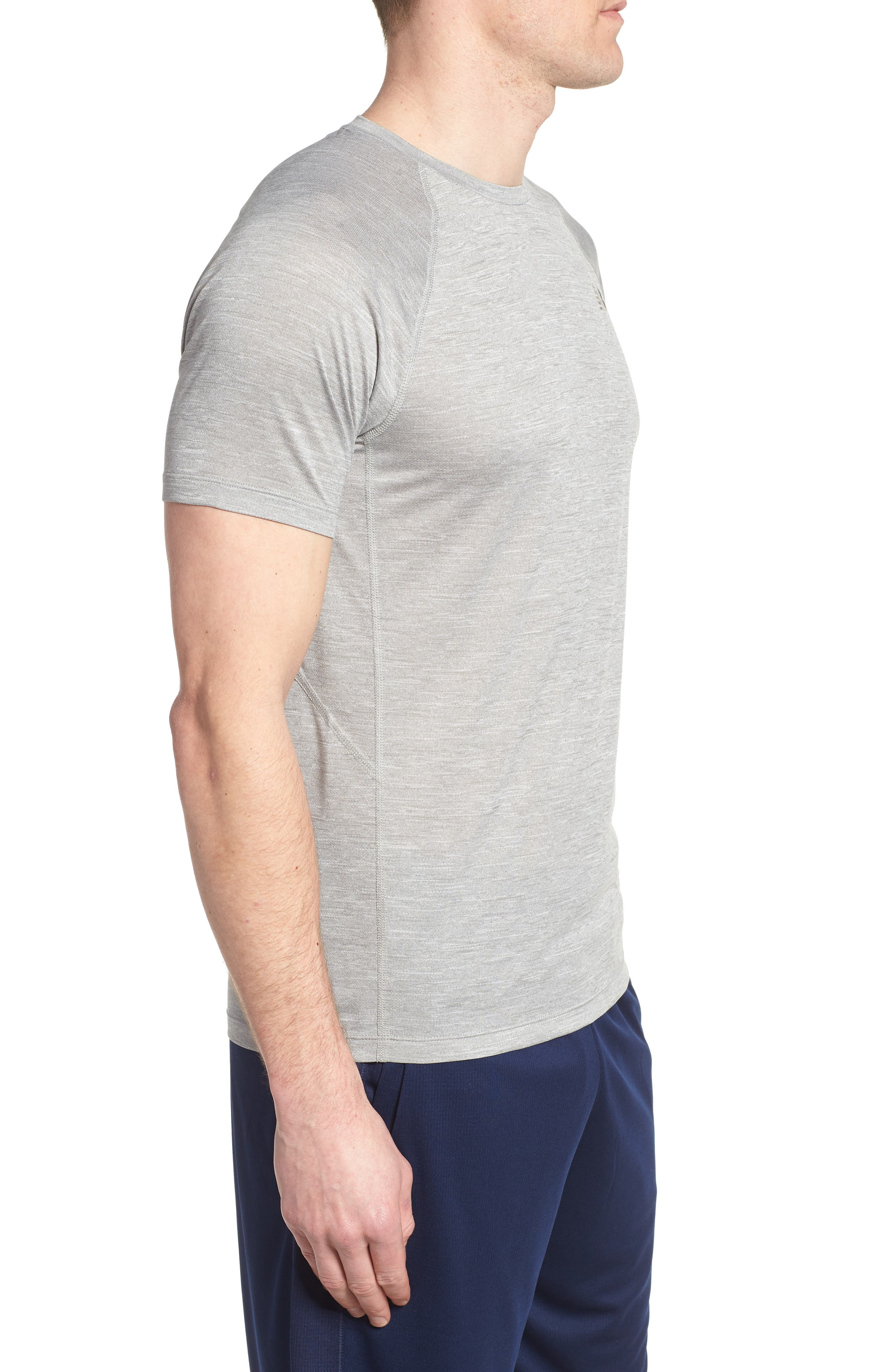 Tenacity Crewneck T-Shirt,                             Alternate thumbnail 3, color,                             ATHLETIC GREY