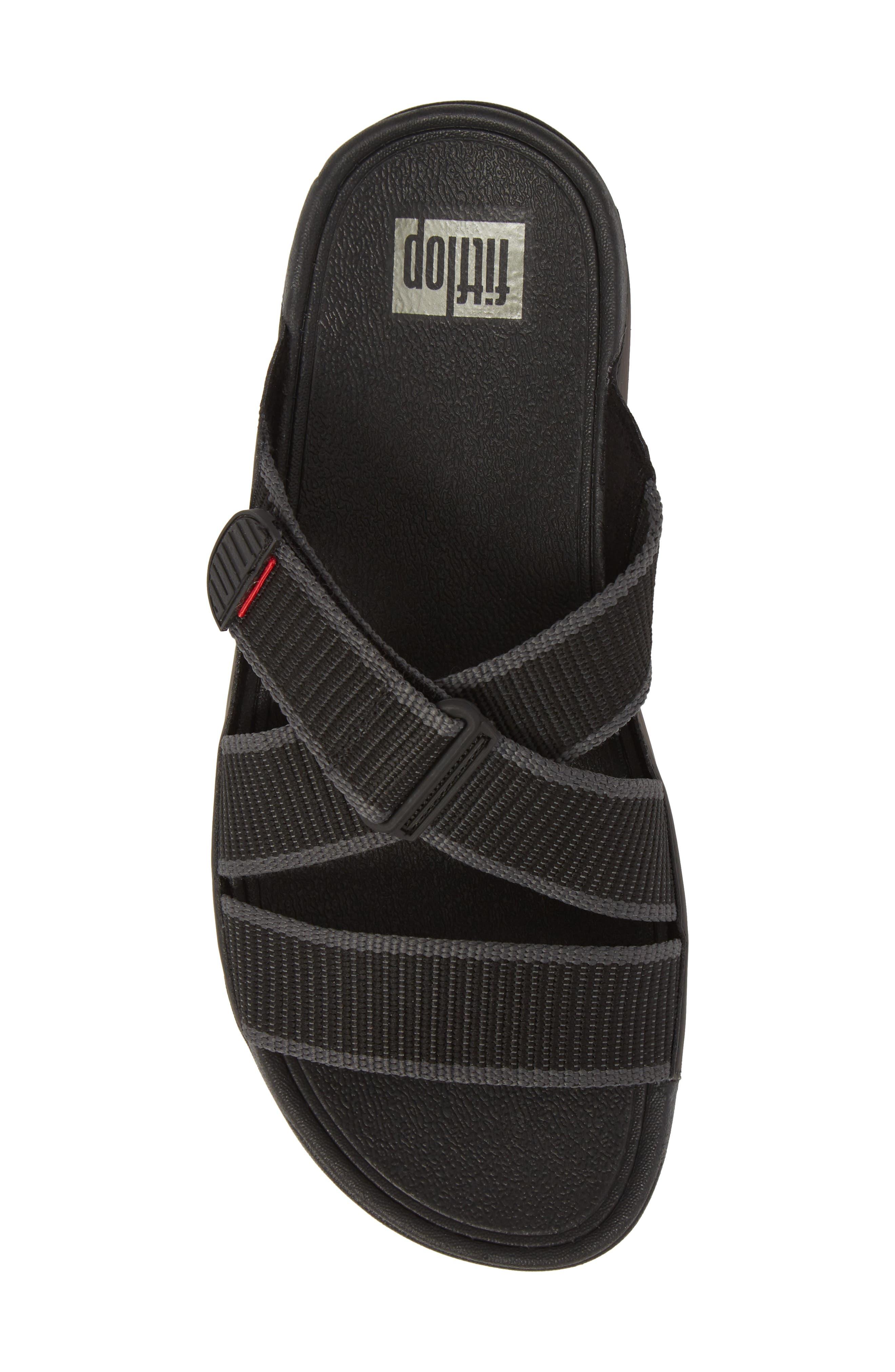 Sling II Slide Sandal,                             Alternate thumbnail 5, color,                             BLACK/ DARK SHADOW