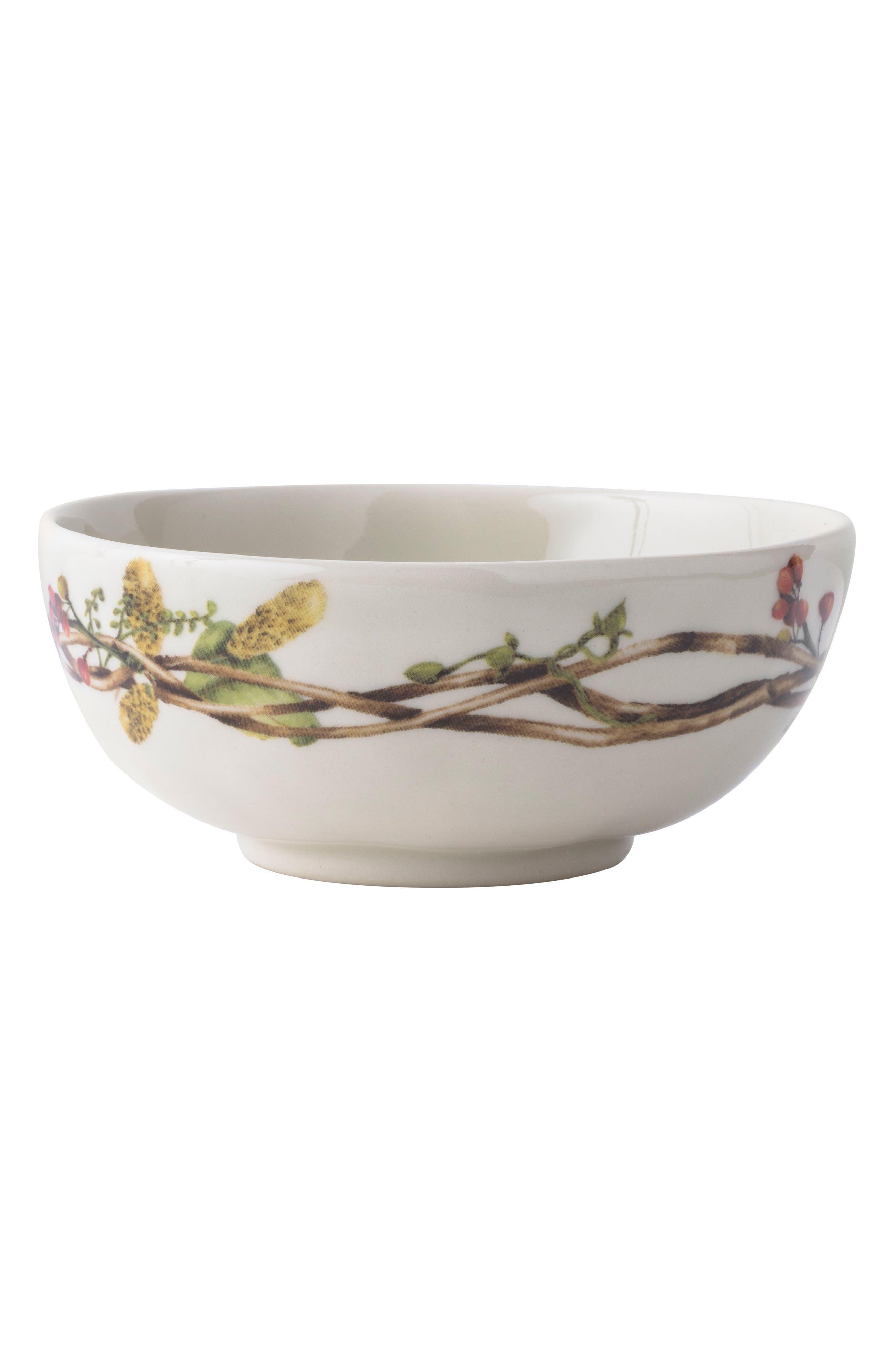 Forest Walk Berry Stoneware Bowl,                             Main thumbnail 1, color,                             CAF AU LAIT