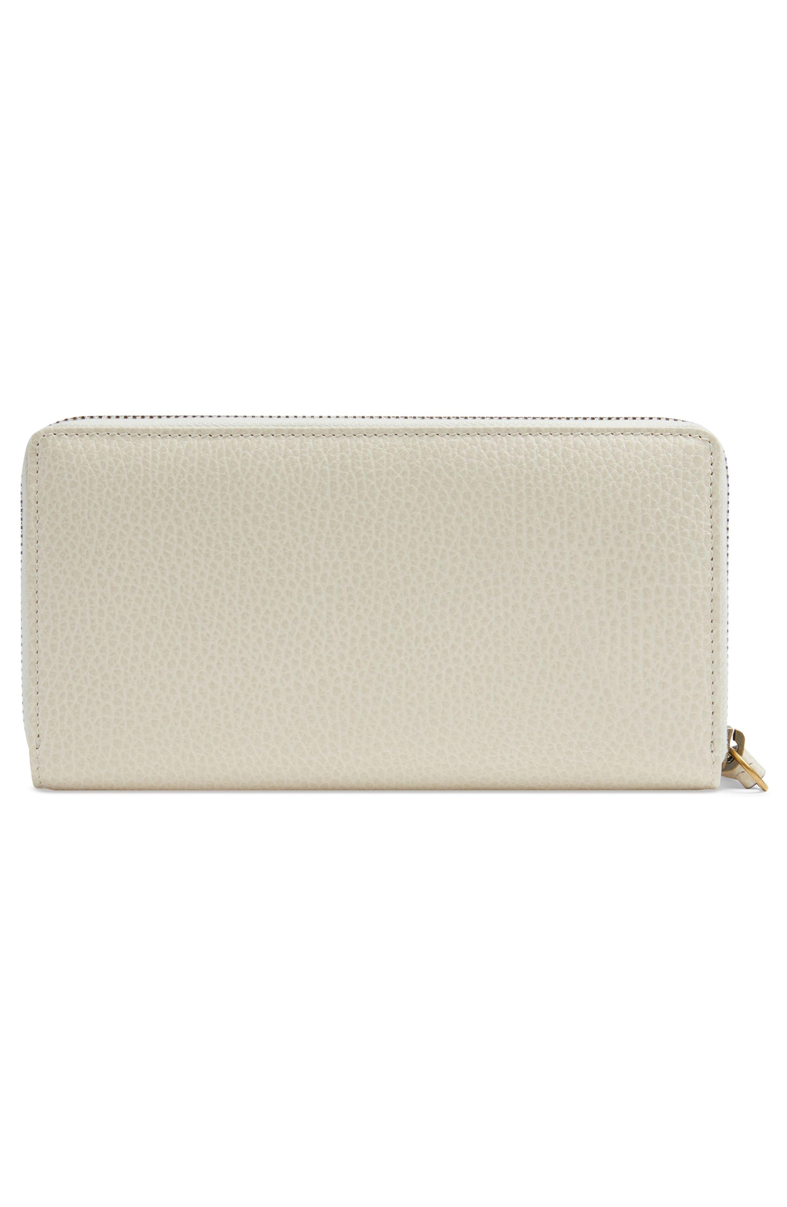 Linea Fioccino Leather Continental Wallet,                             Alternate thumbnail 3, color,                             MYSTIC WHITE/ PINK/ CRYSTAL