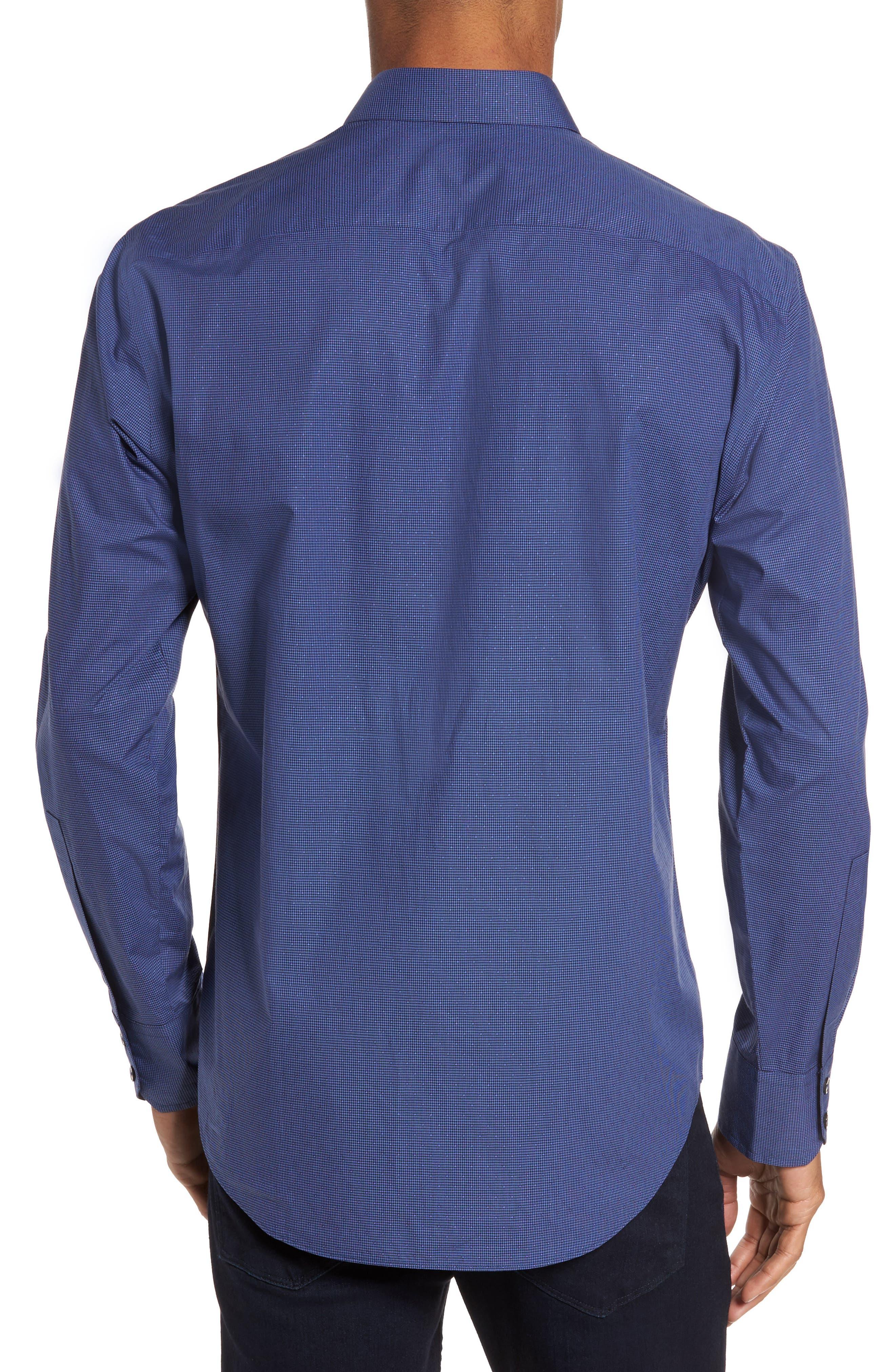 Galileo Dobby Microcheck Sport Shirt,                             Alternate thumbnail 2, color,                             410
