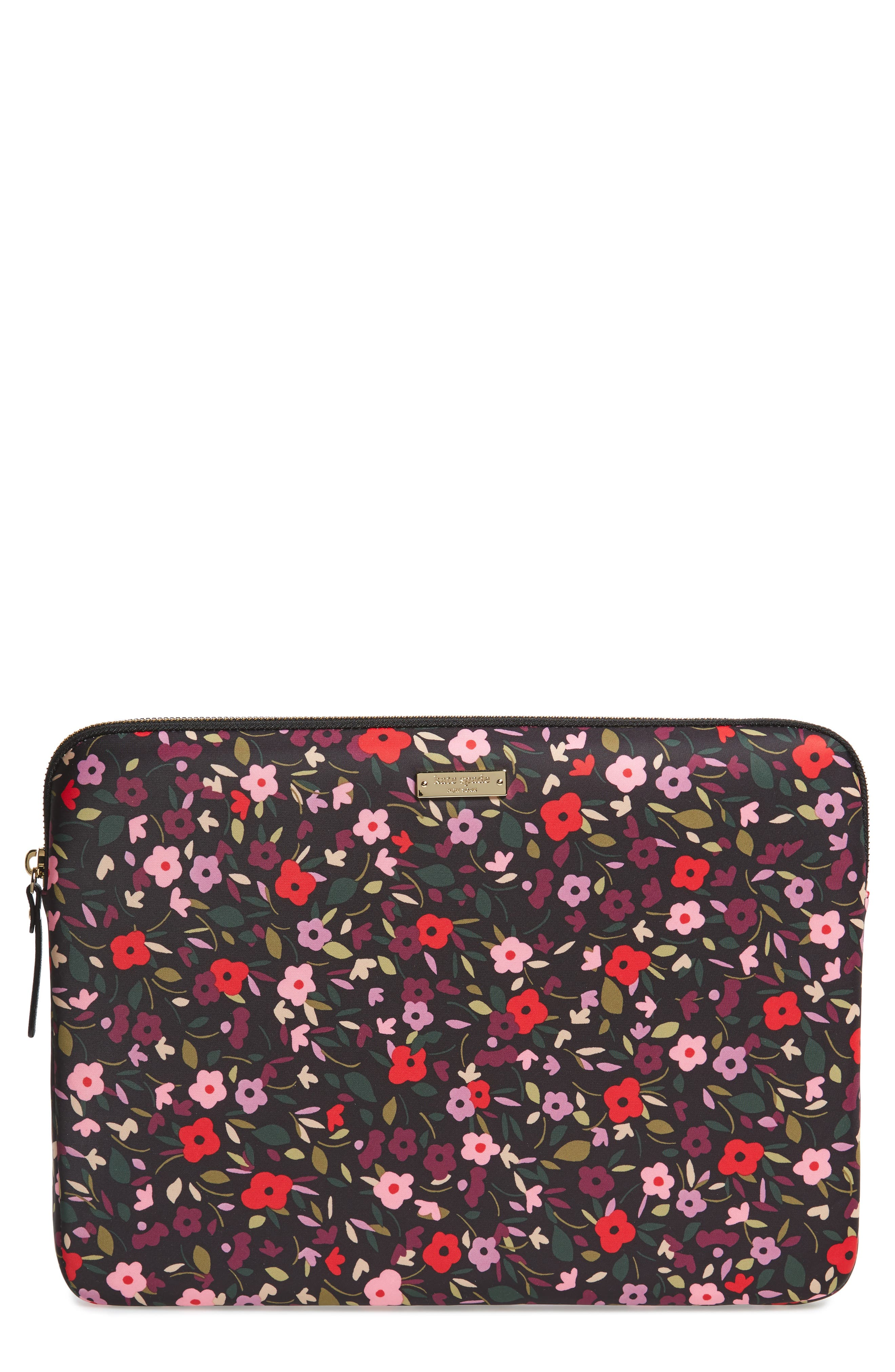 boho floral 13-inch laptop sleeve,                             Main thumbnail 1, color,                             002