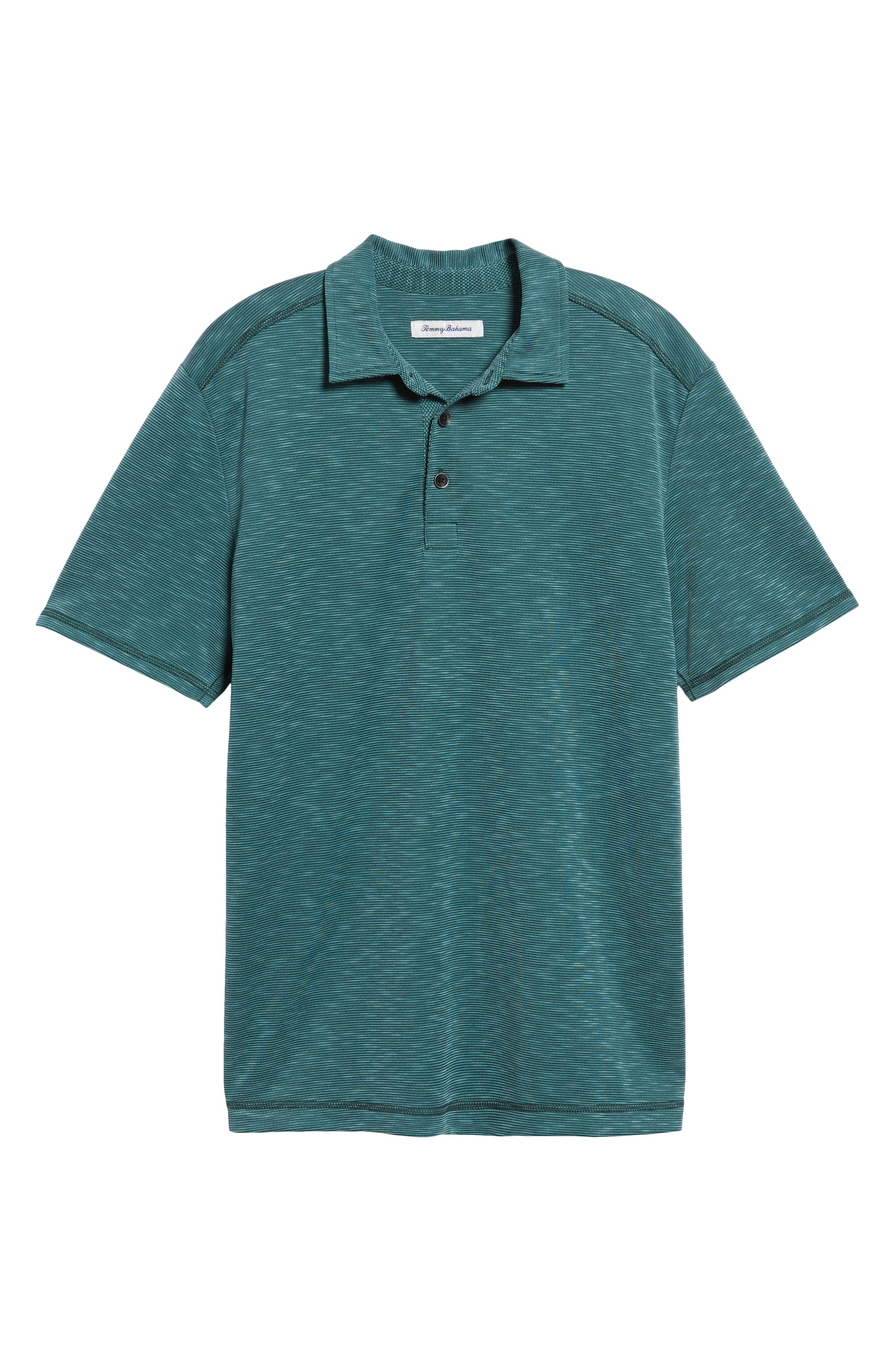 New Double Tempo Spectator Jersey Polo,                             Alternate thumbnail 6, color,                             FOREST GREEN