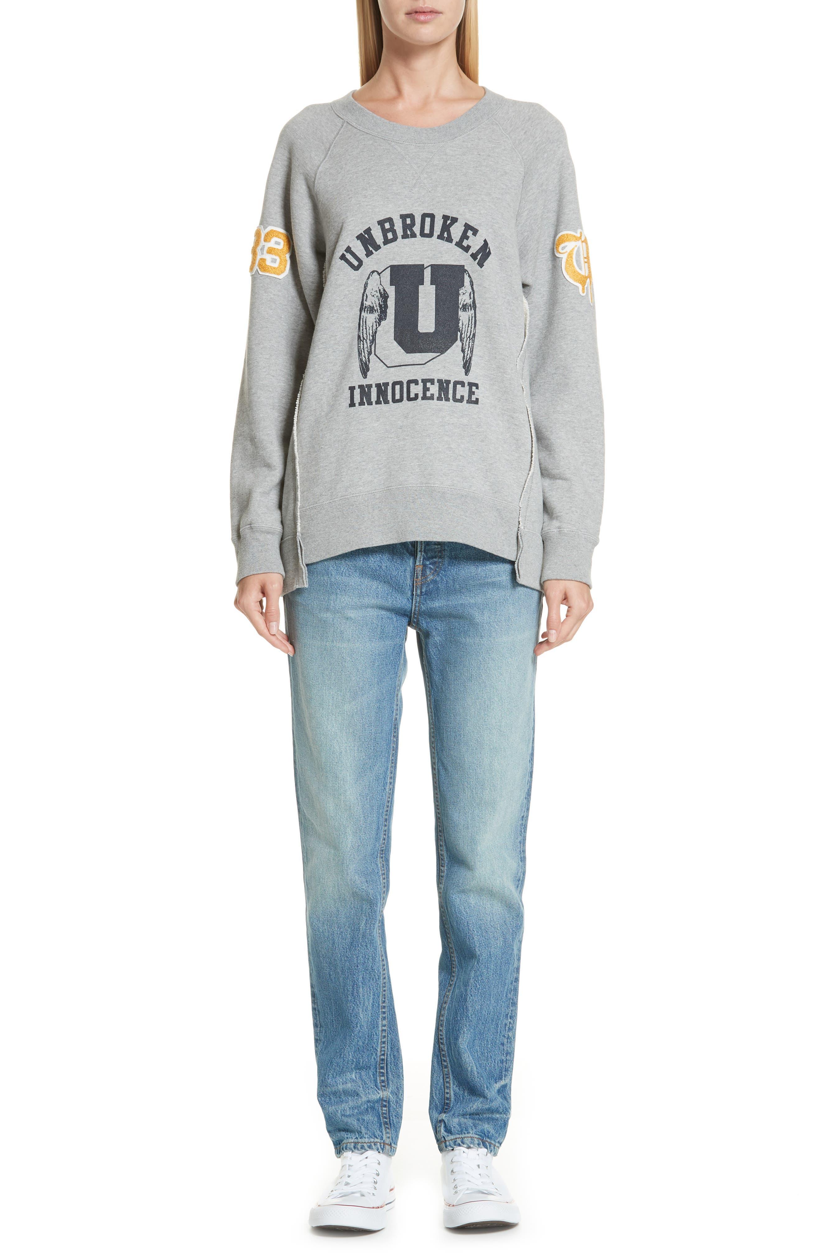 Unbroken Innocence Sweatshirt,                             Alternate thumbnail 7, color,                             B TOP GRAY
