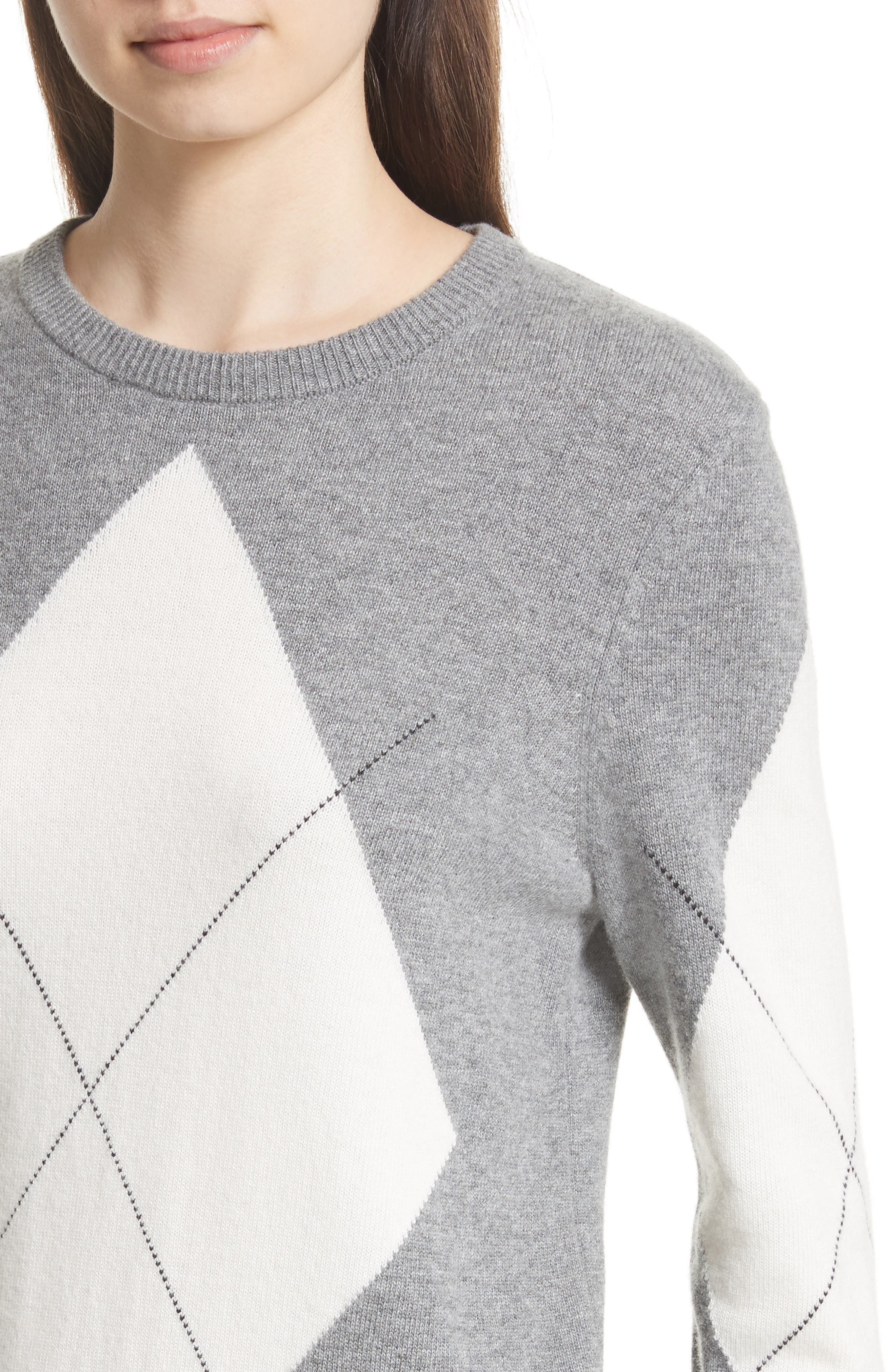Rei Argyle Crewneck Sweater,                             Alternate thumbnail 4, color,                             077