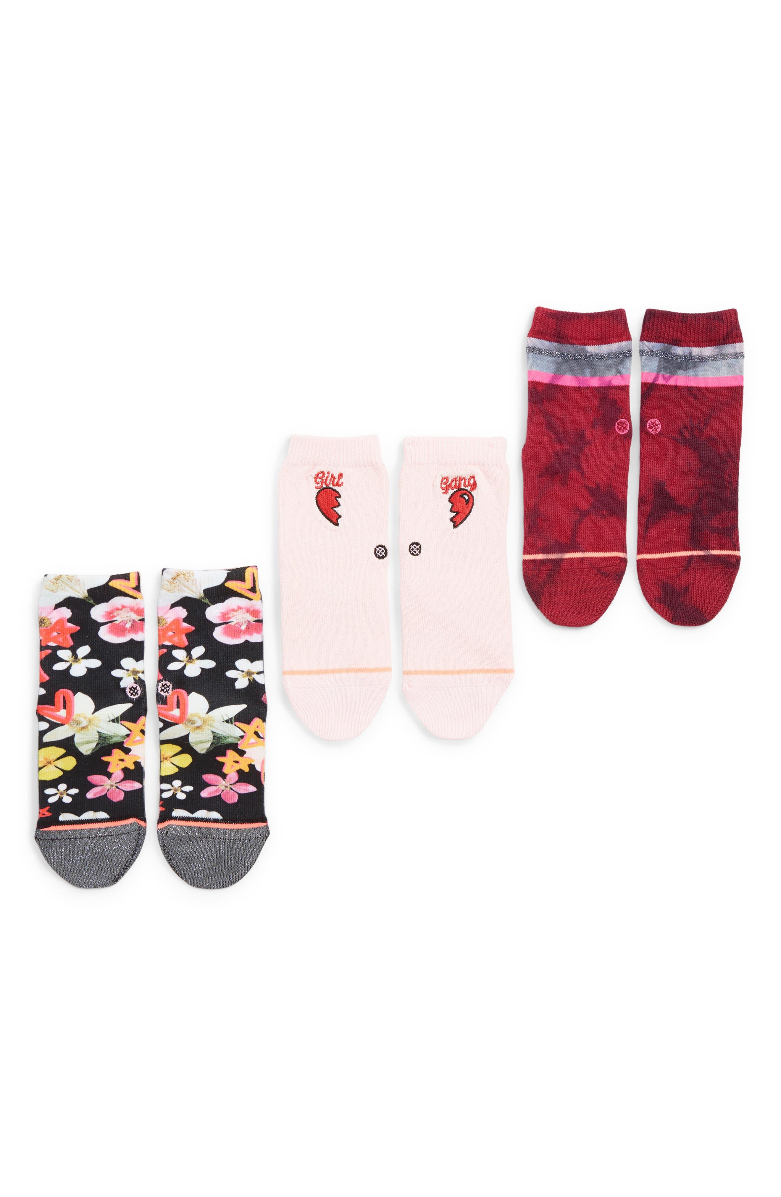 STANCE,                             3-Pack Super Bloom Socks,                             Main thumbnail 1, color,                             650