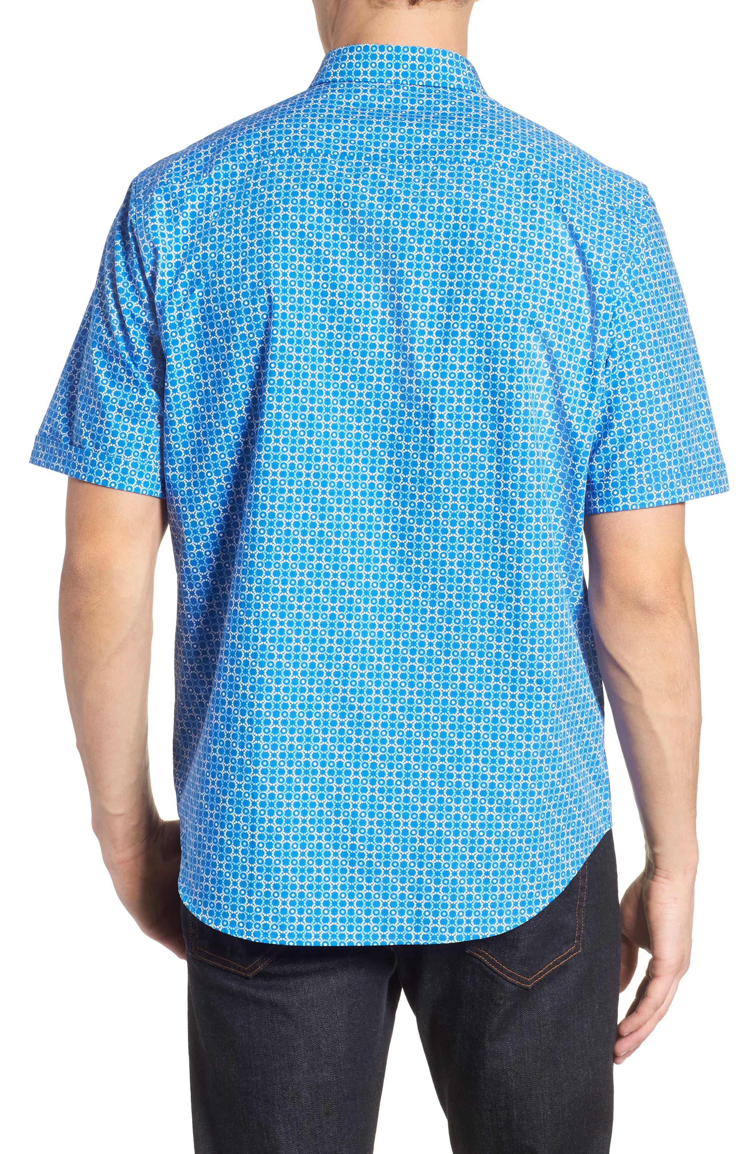 Classic Fit Circle Grid Sport Shirt,                             Alternate thumbnail 2, color,                             CLASSIC BLUE