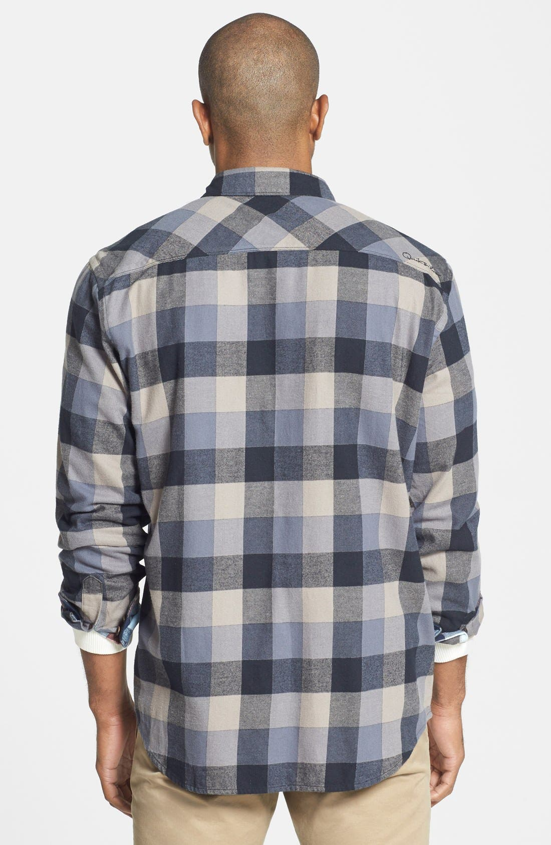 Quiksilver 'Aikens Lake' Flannel Shirt,                             Alternate thumbnail 3, color,                             002