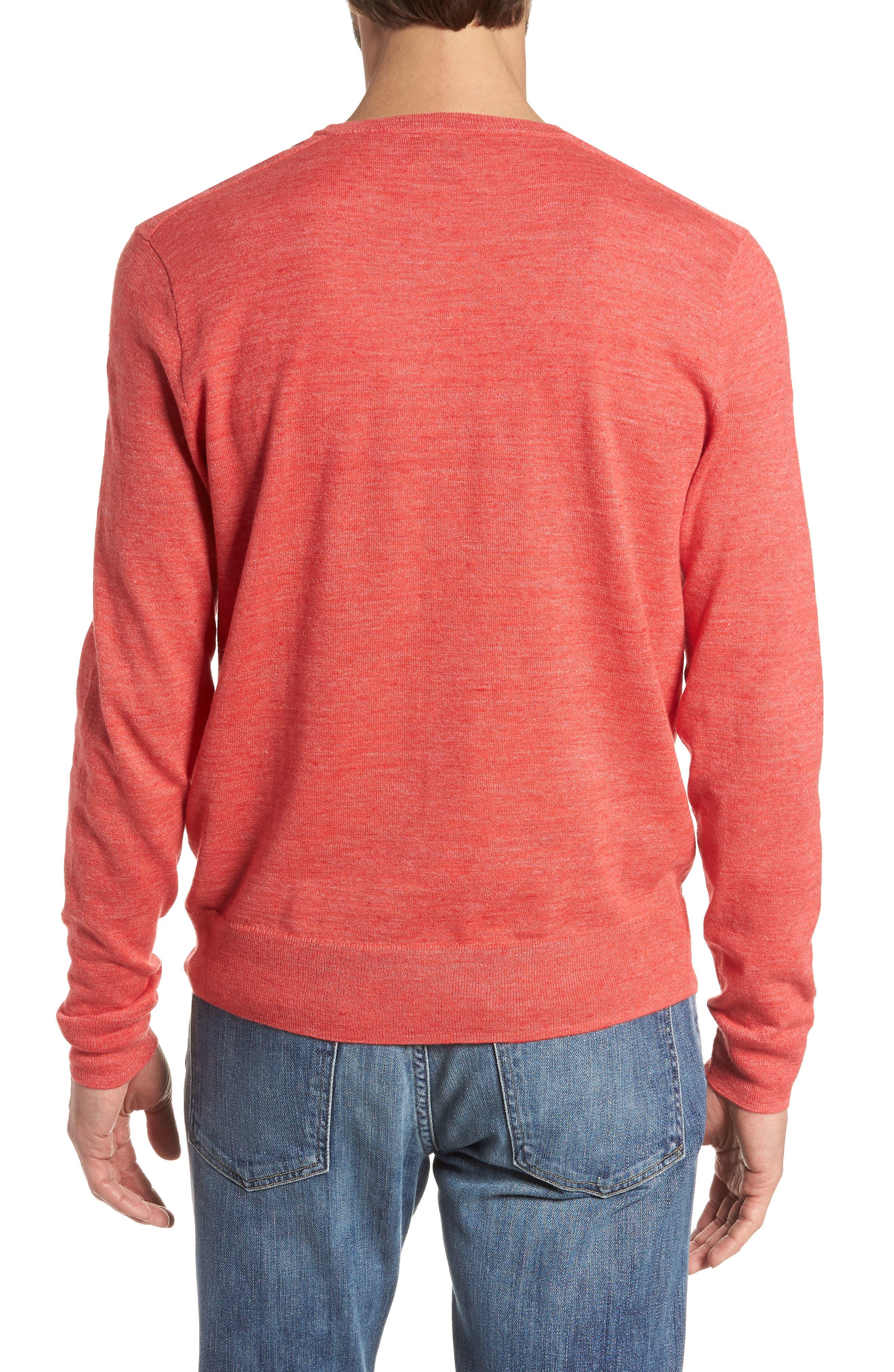 Cotton Blend Crewneck Sweater,                             Alternate thumbnail 8, color,