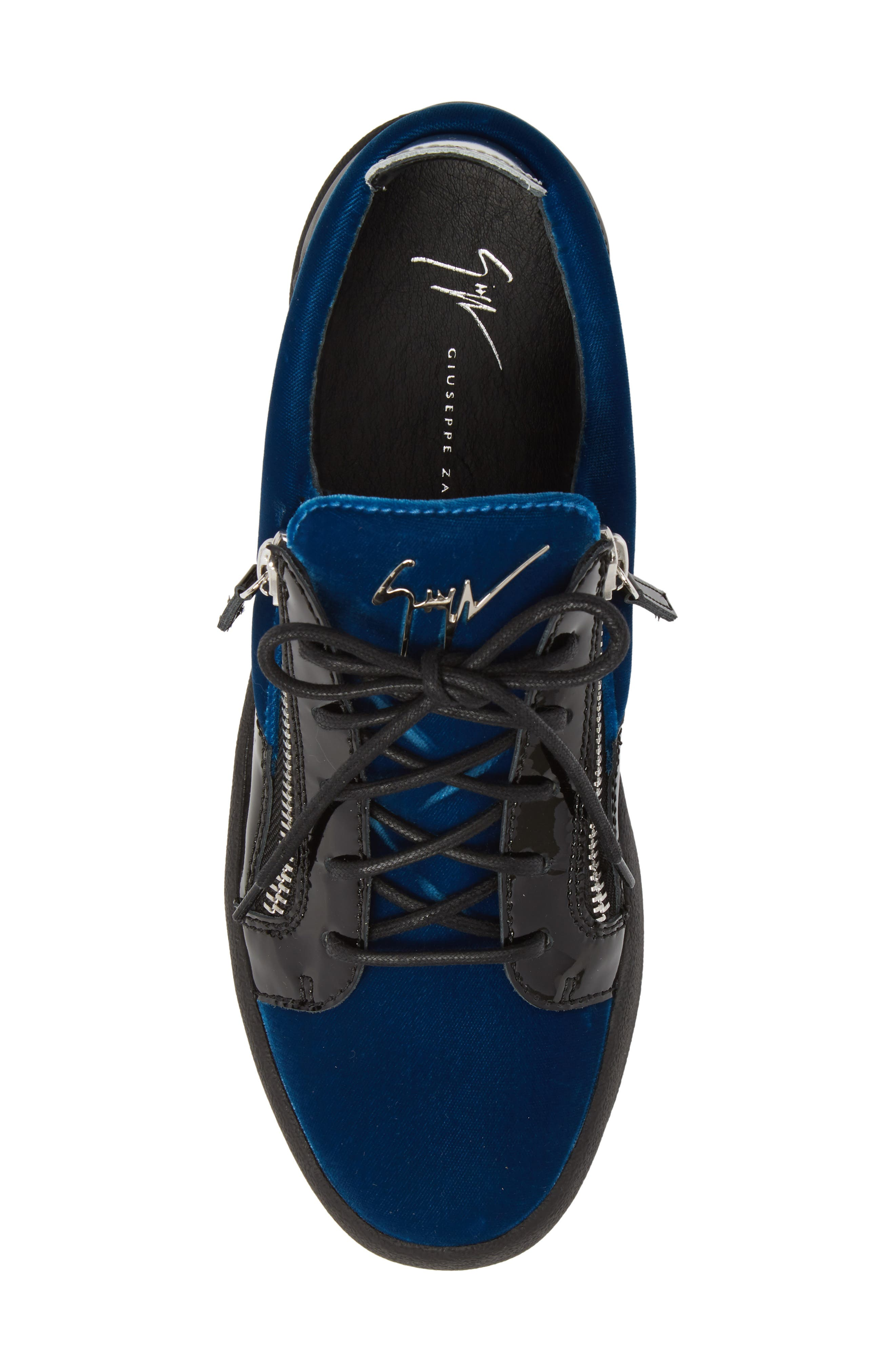 Camo Sneaker,                             Alternate thumbnail 5, color,                             BLUE