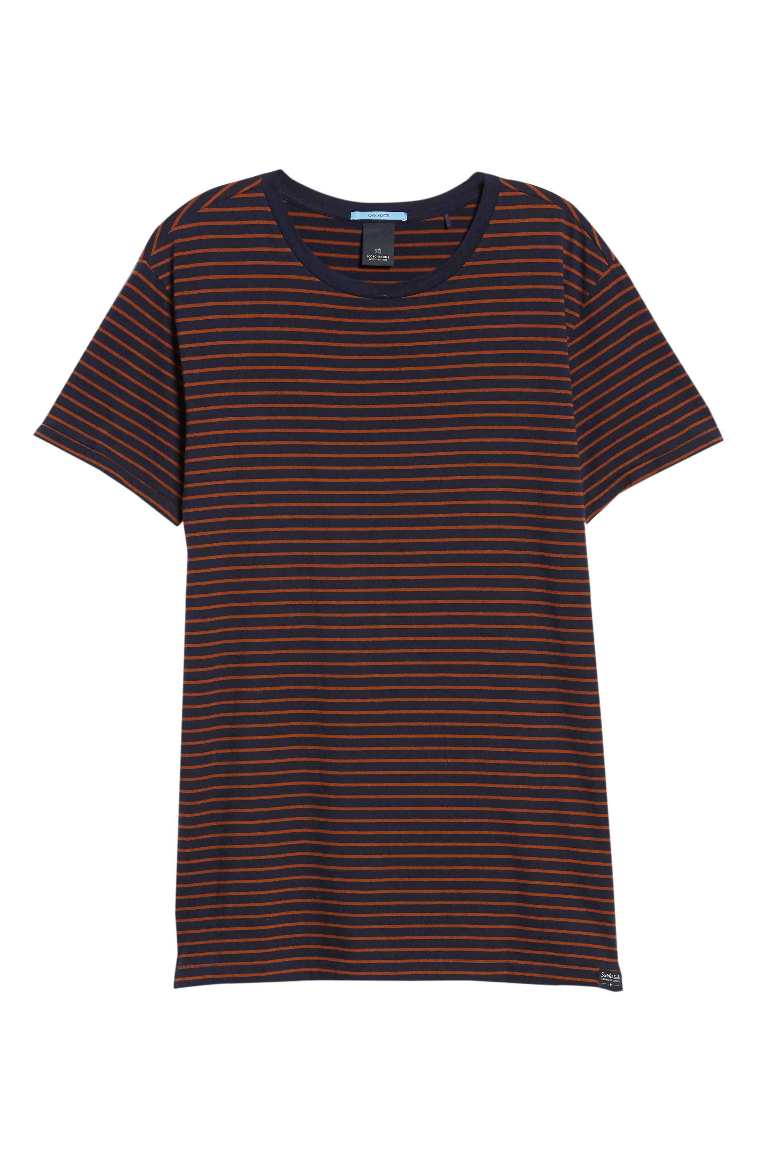 Stripe T-Shirt,                             Alternate thumbnail 6, color,                             210