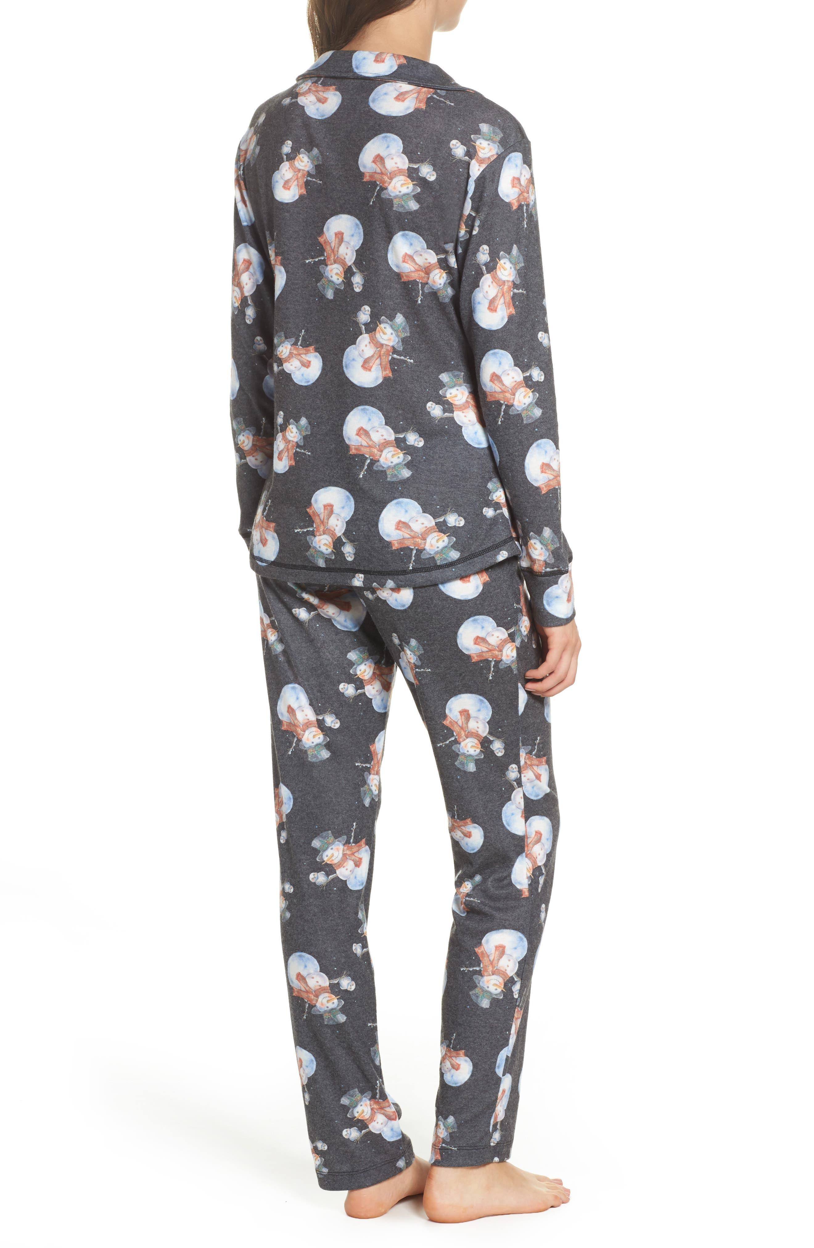 Clara Flannel Pajamas,                             Alternate thumbnail 2, color,                             001