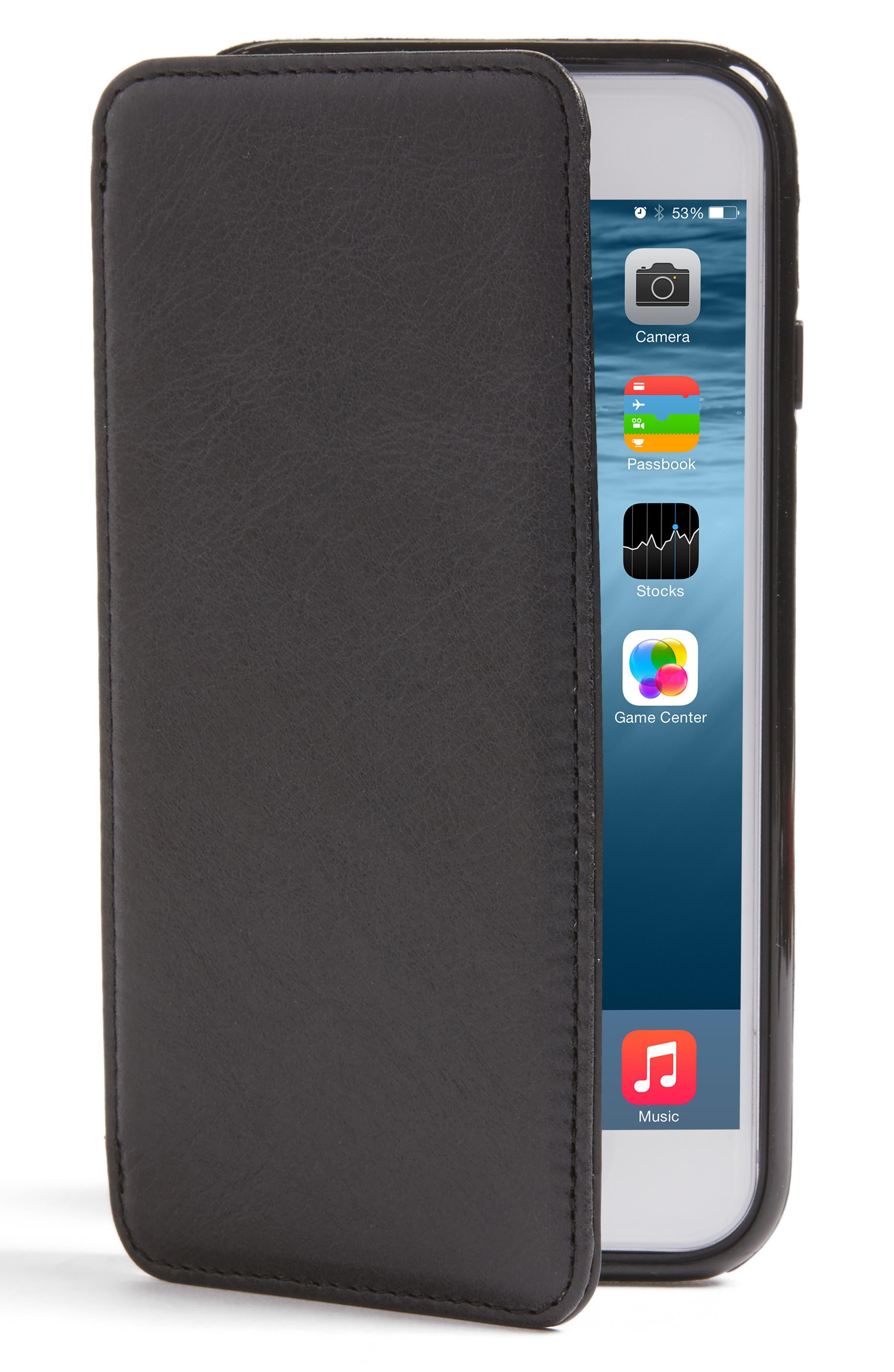 SENA,                             iPhone 7/8 Leather Wallet Case,                             Main thumbnail 1, color,                             005