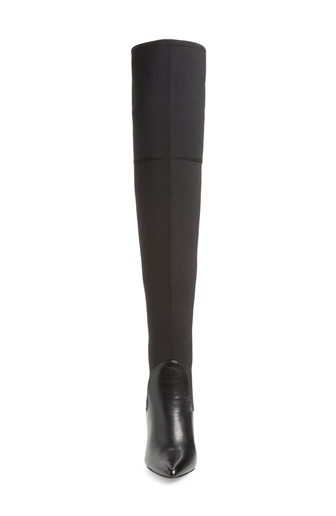 Premium Over the Knee Boot,                             Alternate thumbnail 3, color,                             001
