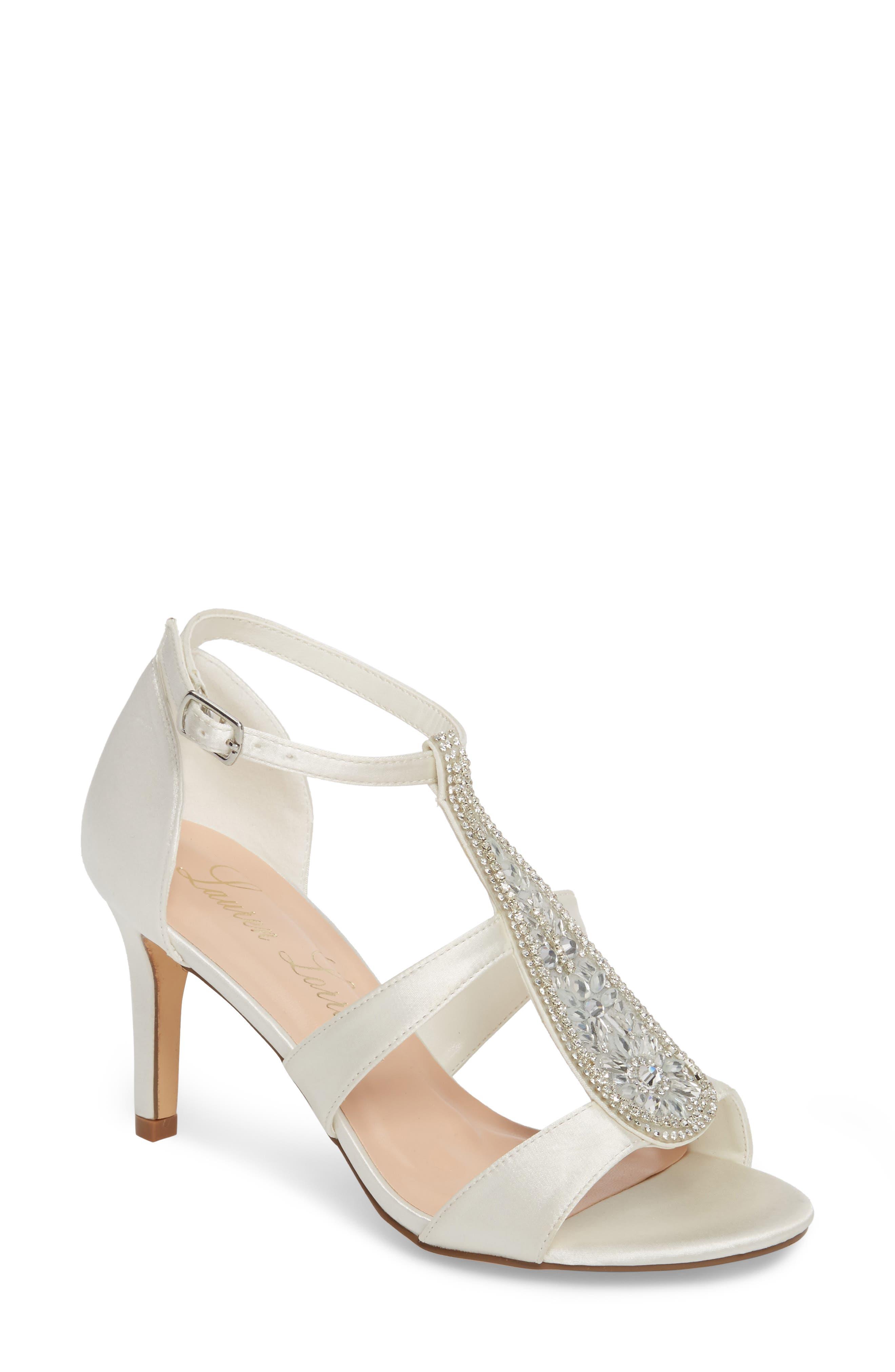 Lauren Lorraine Ritz Crystal Embellished Sandal- White
