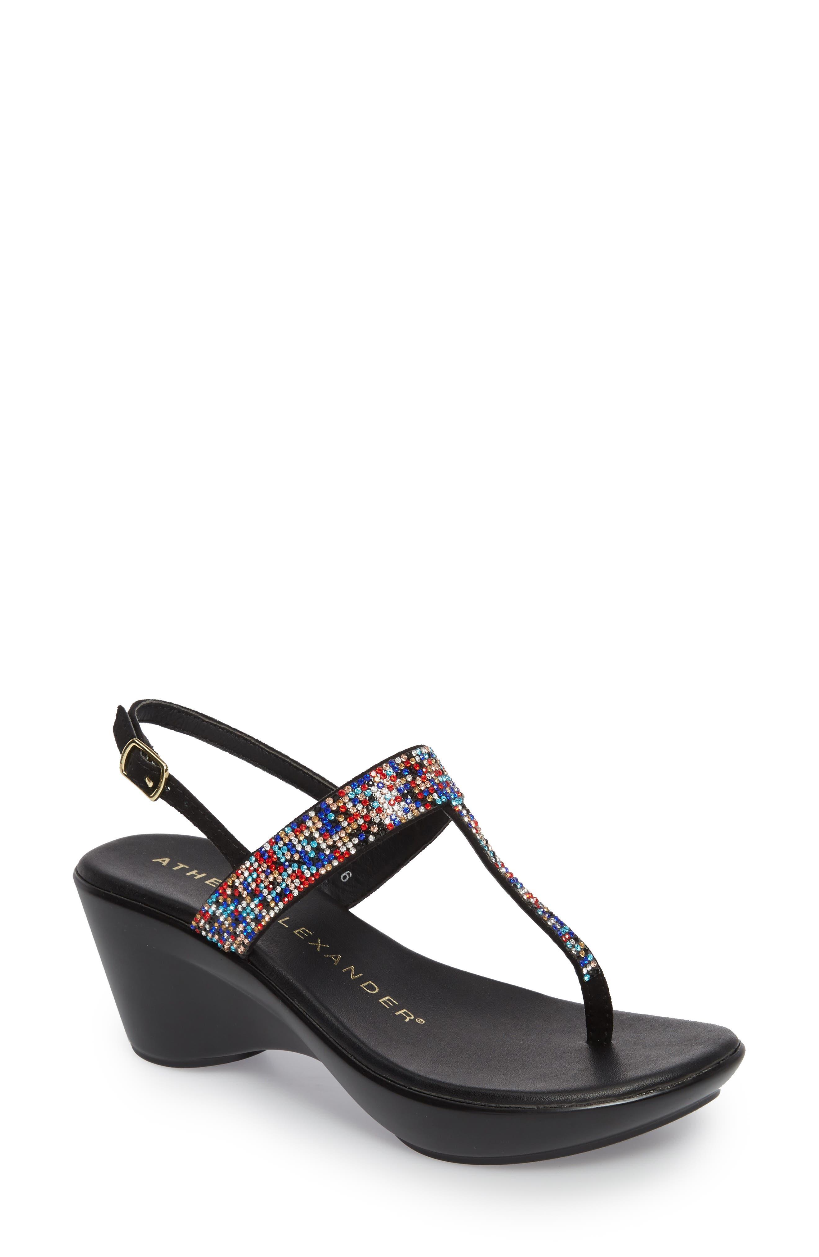Dakkota Wedge Sandal,                             Main thumbnail 1, color,                             001