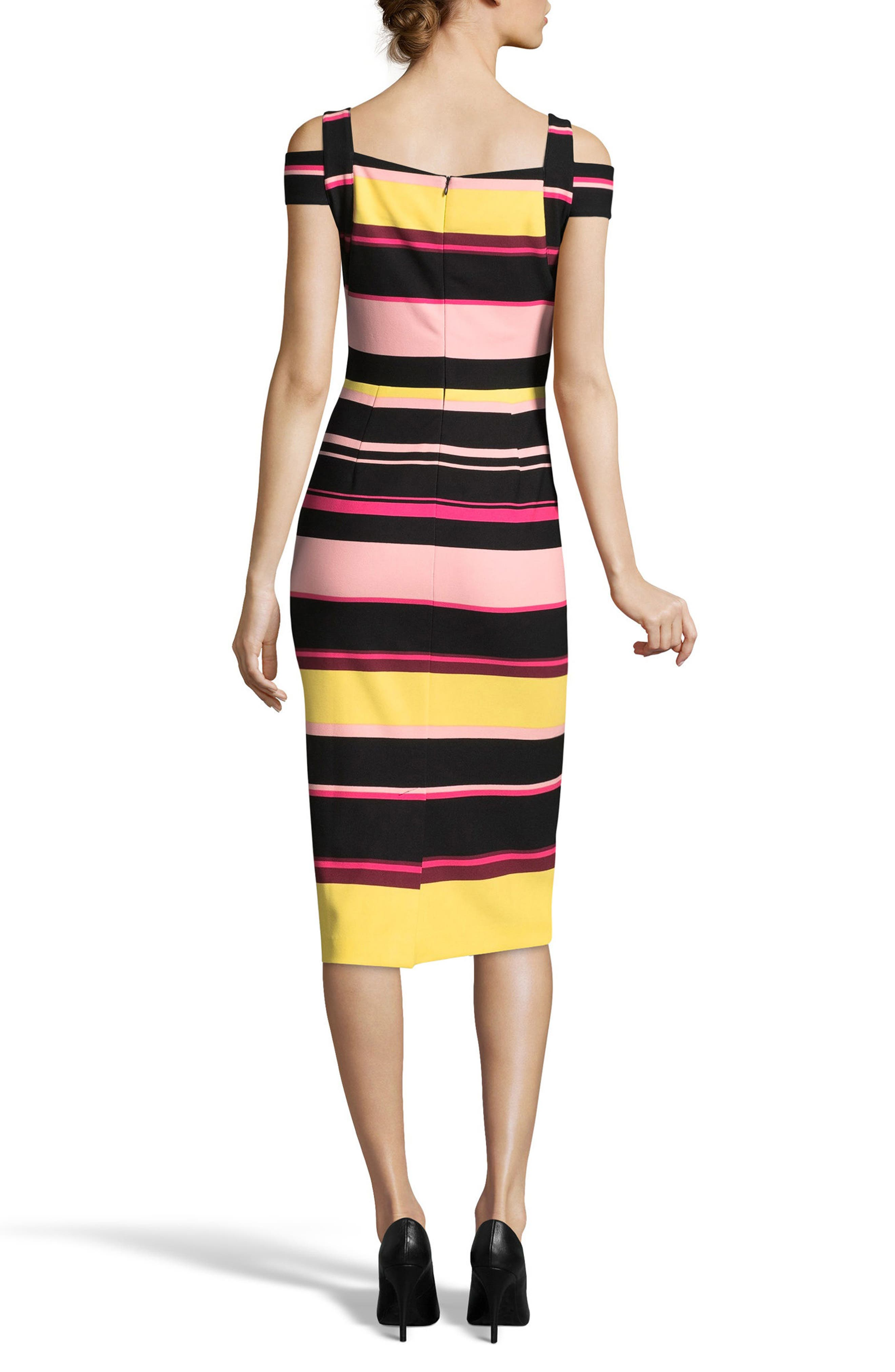 Cold Shoulder Sheath Dress,                             Alternate thumbnail 2, color,