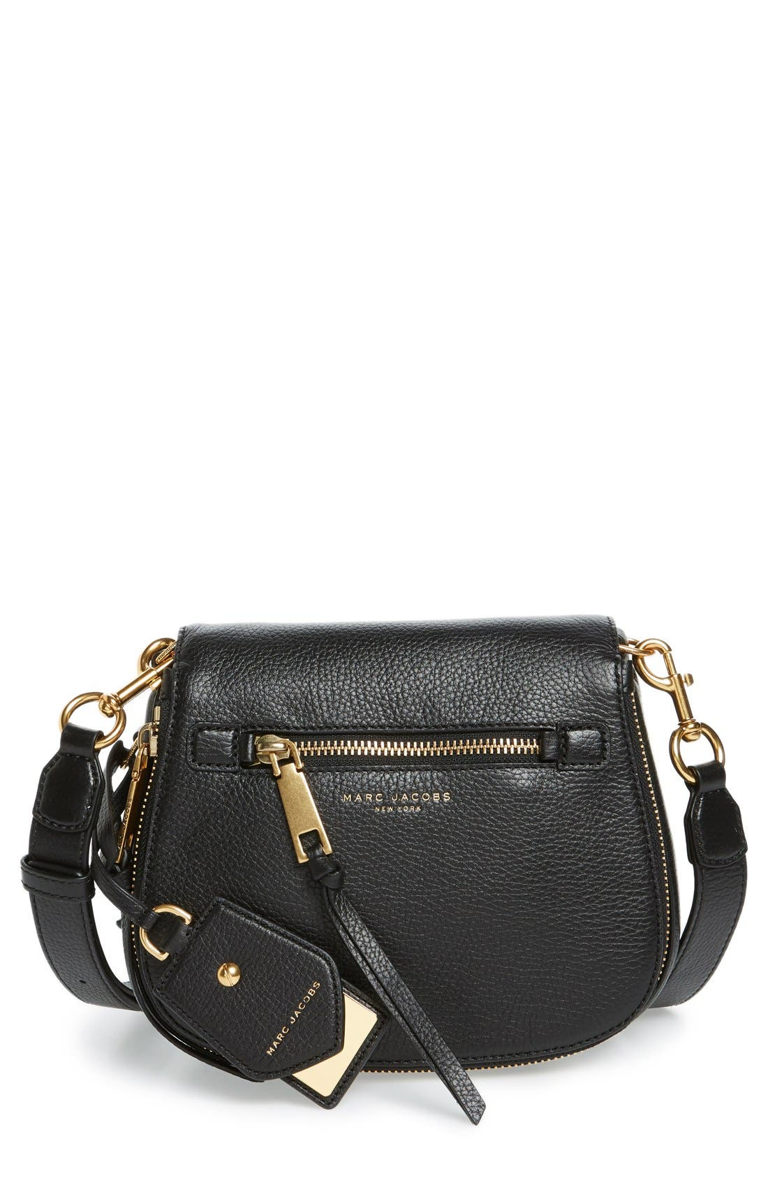 Small Recruit Nomad Pebbled Leather Crossbody Bag,                             Main thumbnail 3, color,