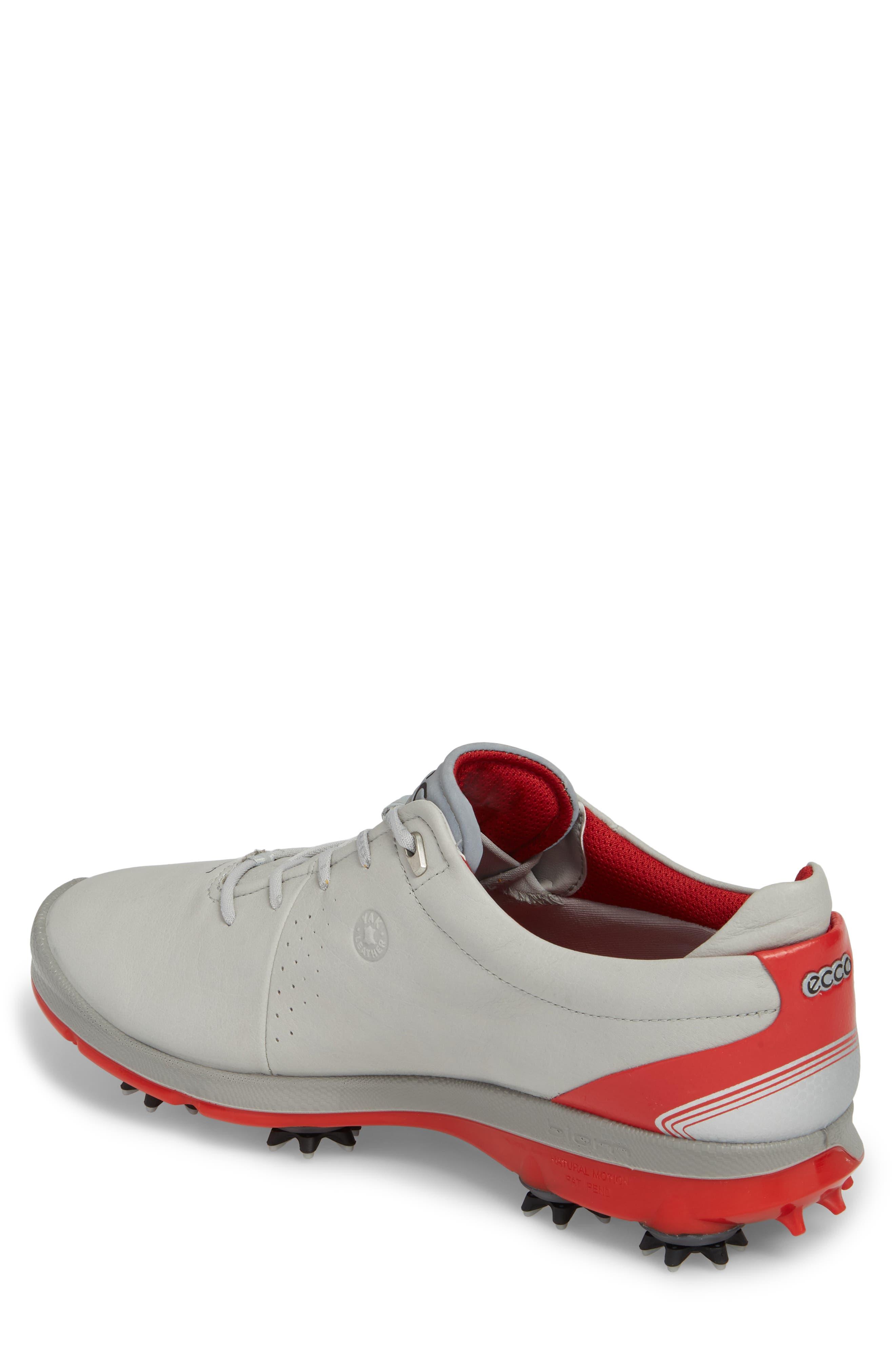 BIOM G 2 Free Gore-Tex<sup>®</sup> Golf Shoe,                             Alternate thumbnail 2, color,                             CONCRETE/ SCARLET LEATHER