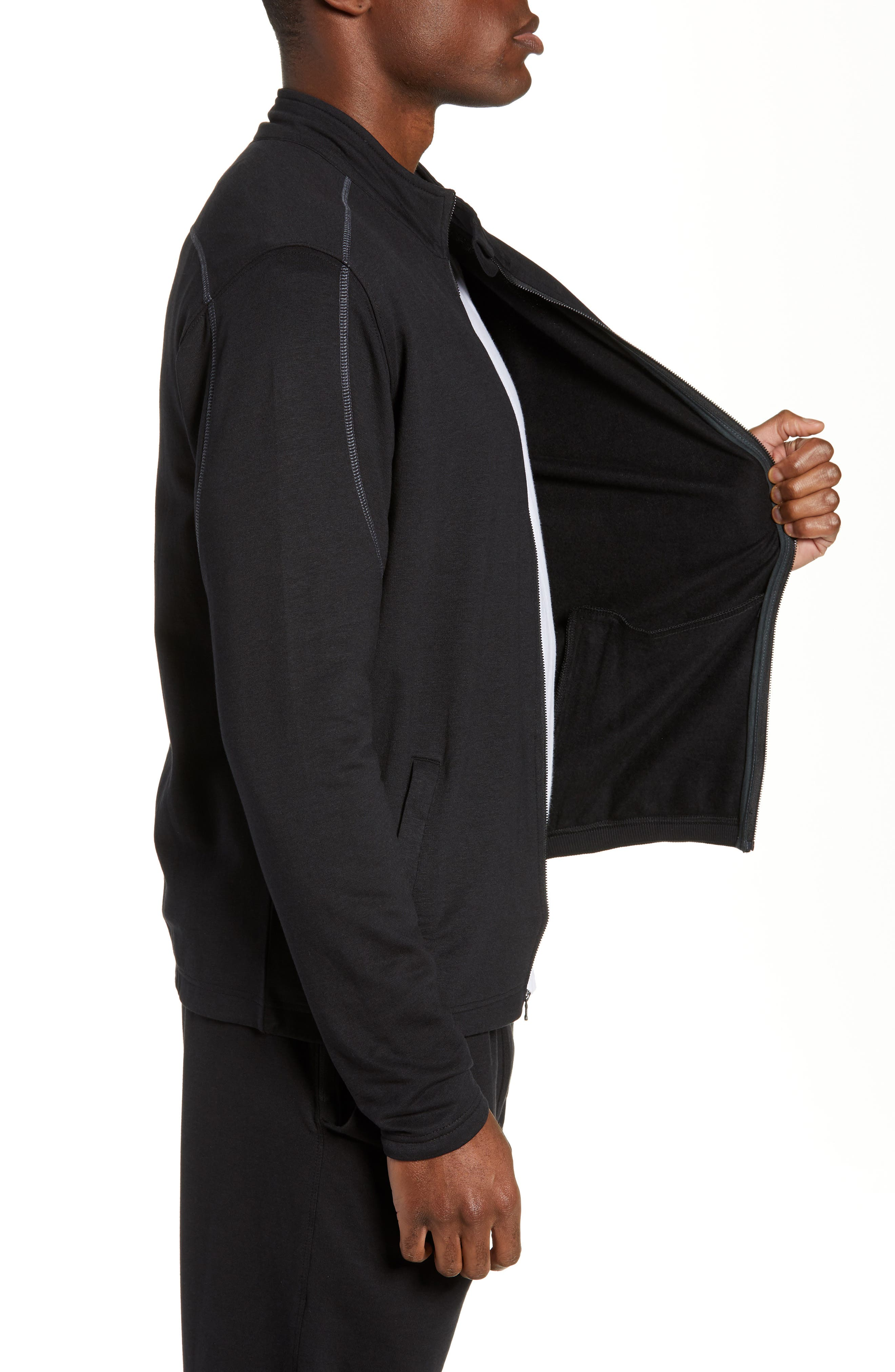 Tahoe II Fleece Jacket,                             Alternate thumbnail 3, color,                             BLACK
