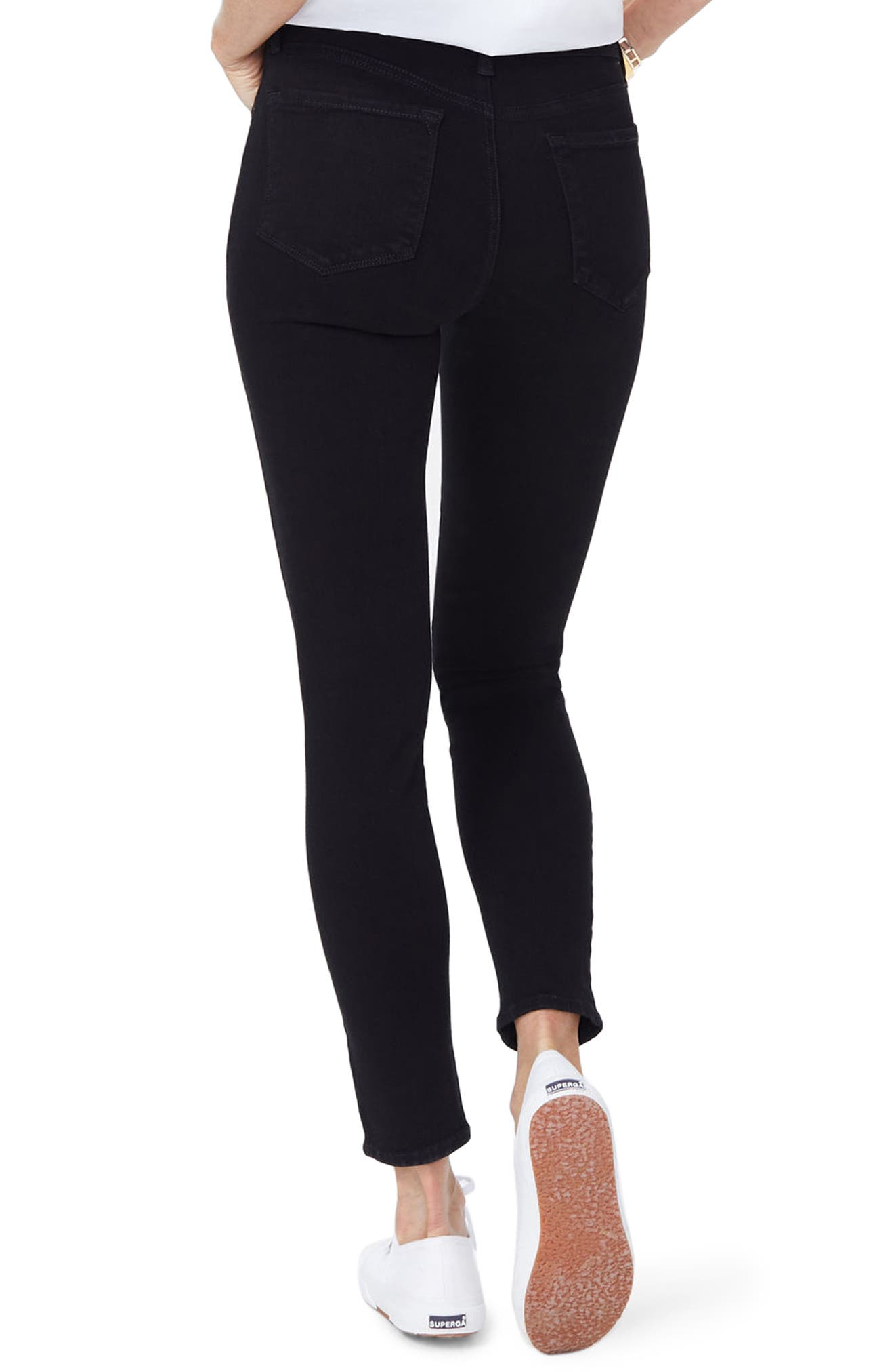 Ami Stretch Super Skinny Jeans,                             Alternate thumbnail 2, color,                             001
