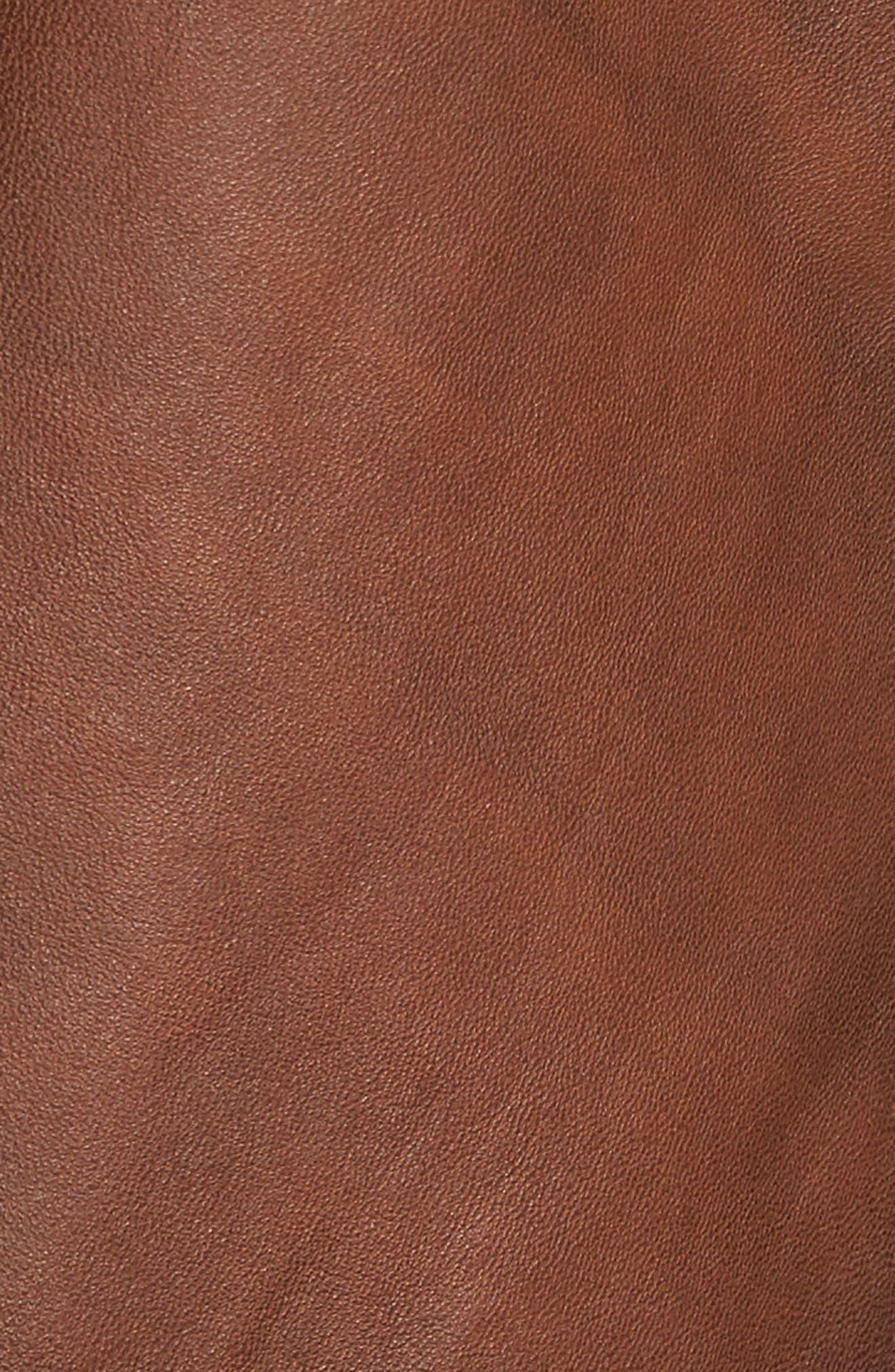 Vintage Leather Blazer,                             Alternate thumbnail 6, color,