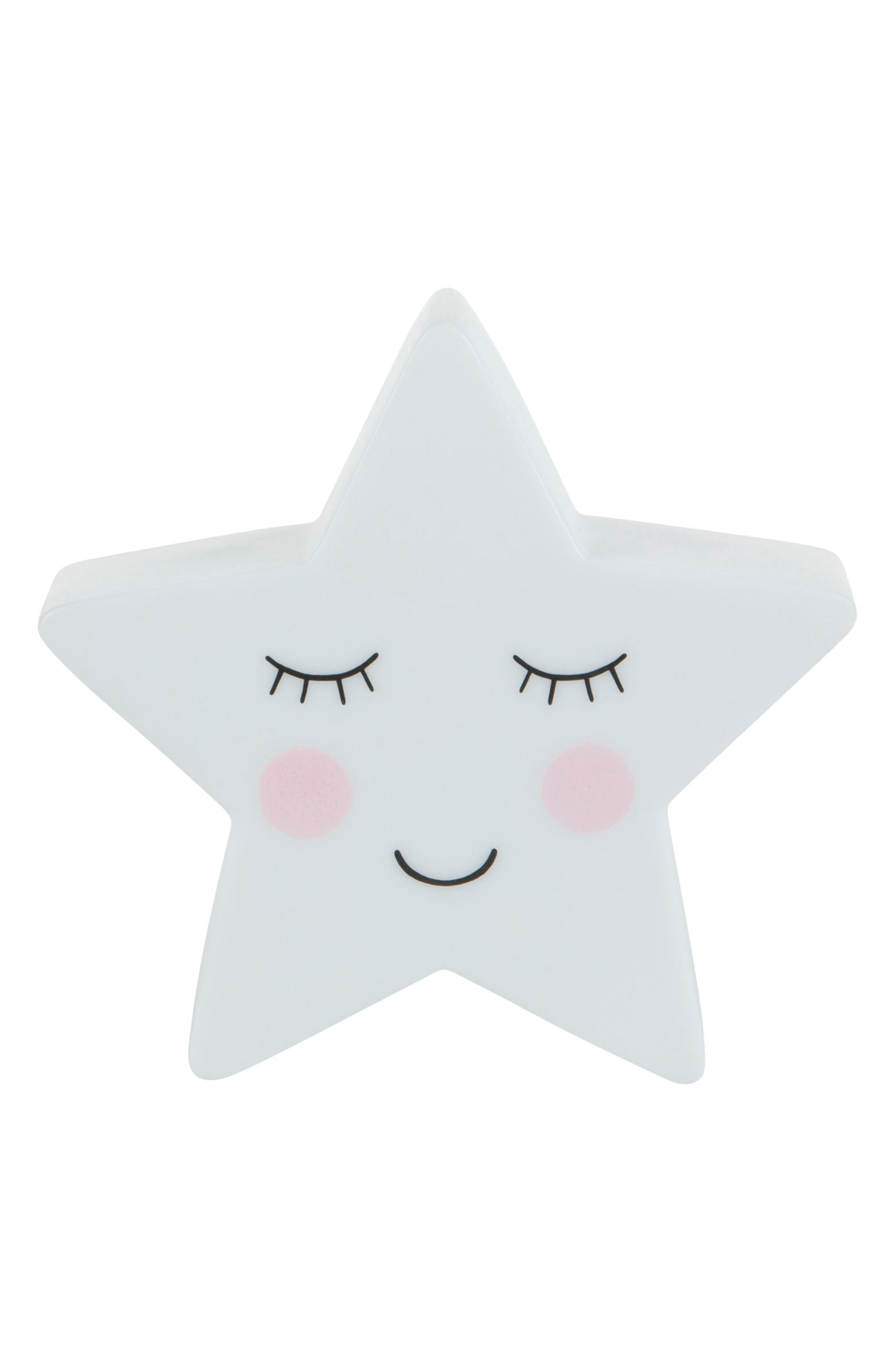 Sweet Dreams Star Night Light,                         Main,                         color, WHITE