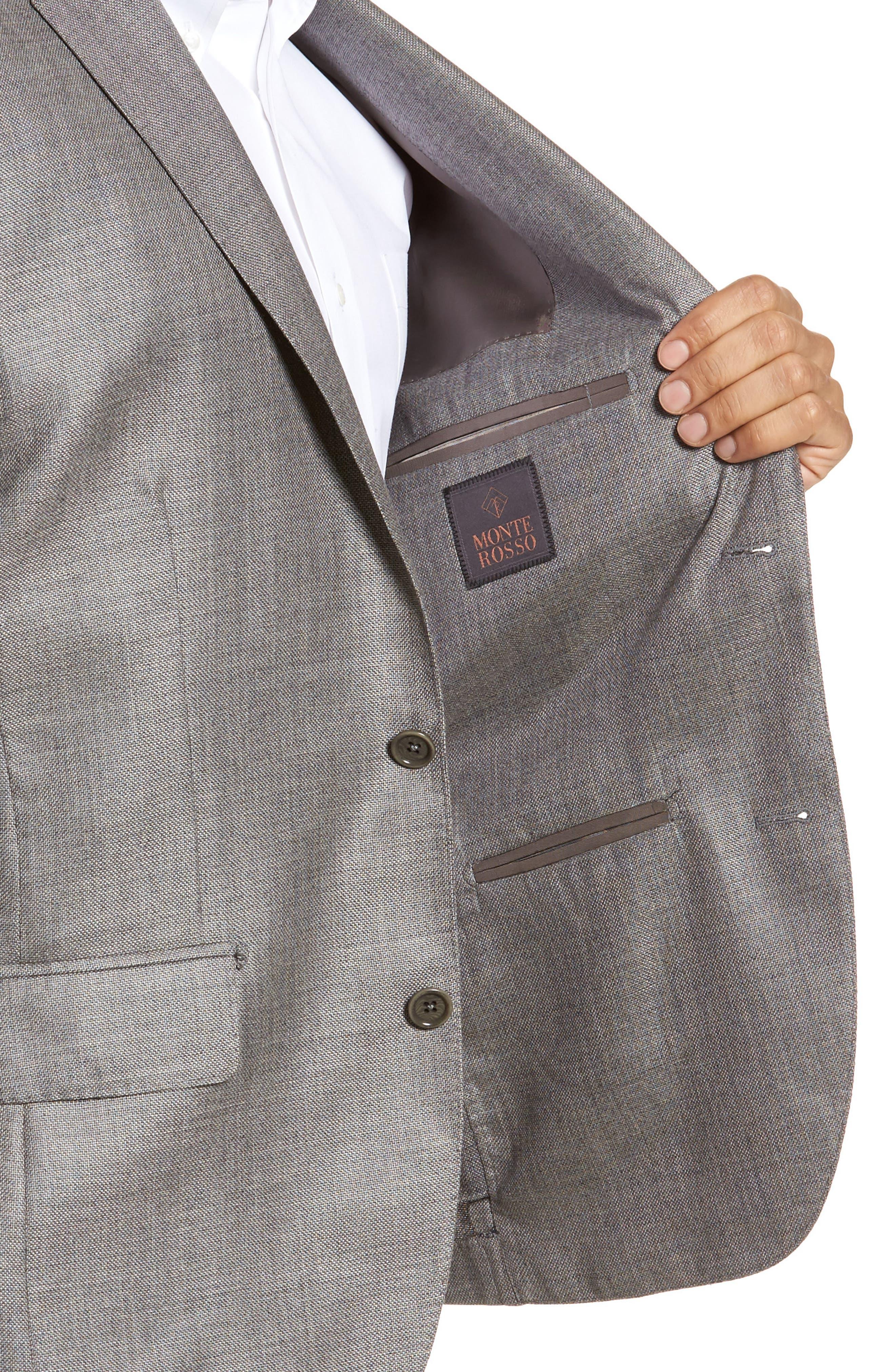 Trim Fit Cashmere & Silk Blazer,                             Alternate thumbnail 4, color,                             030
