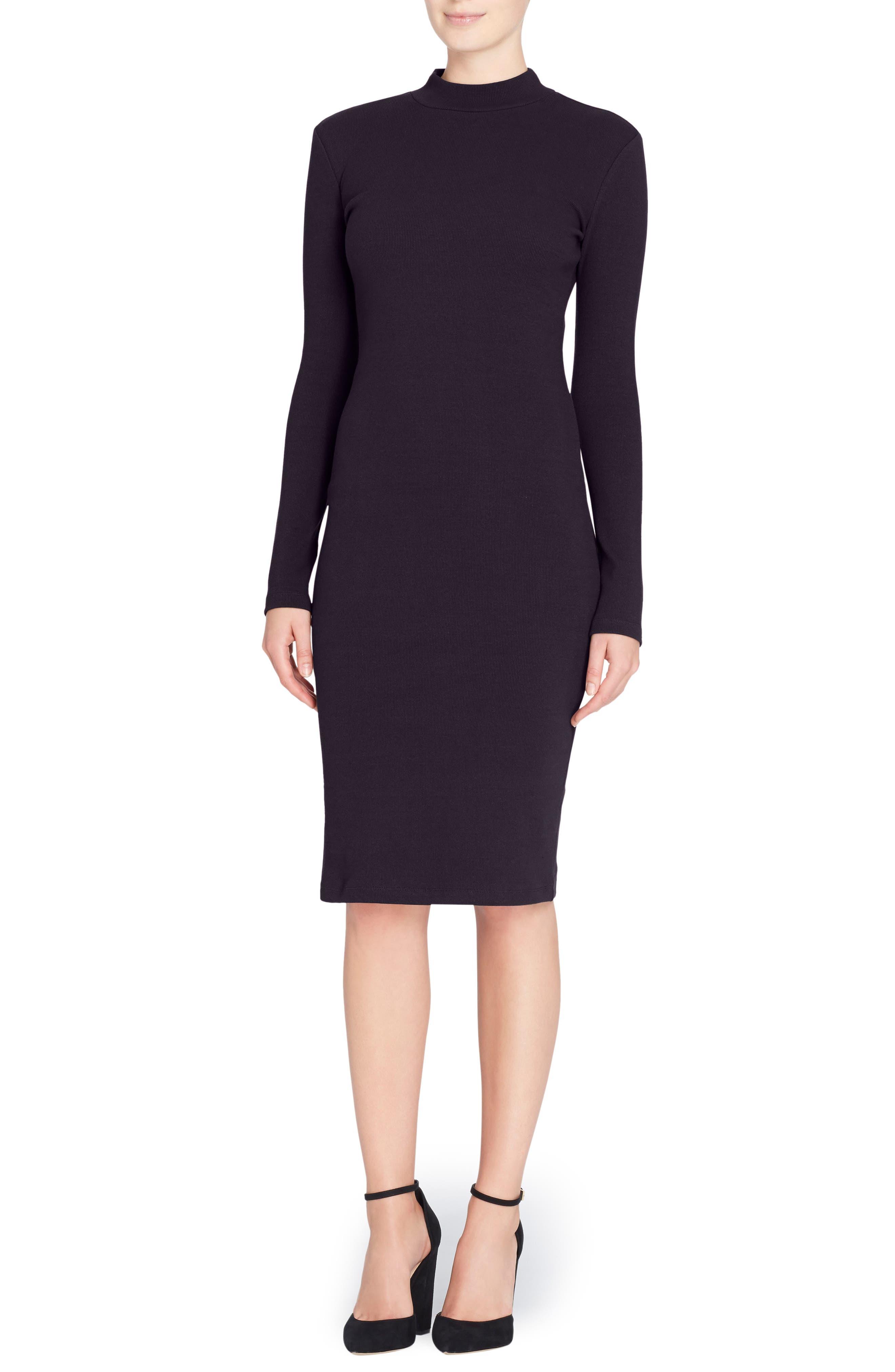 'Kristiana' Knit Midi Dress,                             Main thumbnail 1, color,                             010