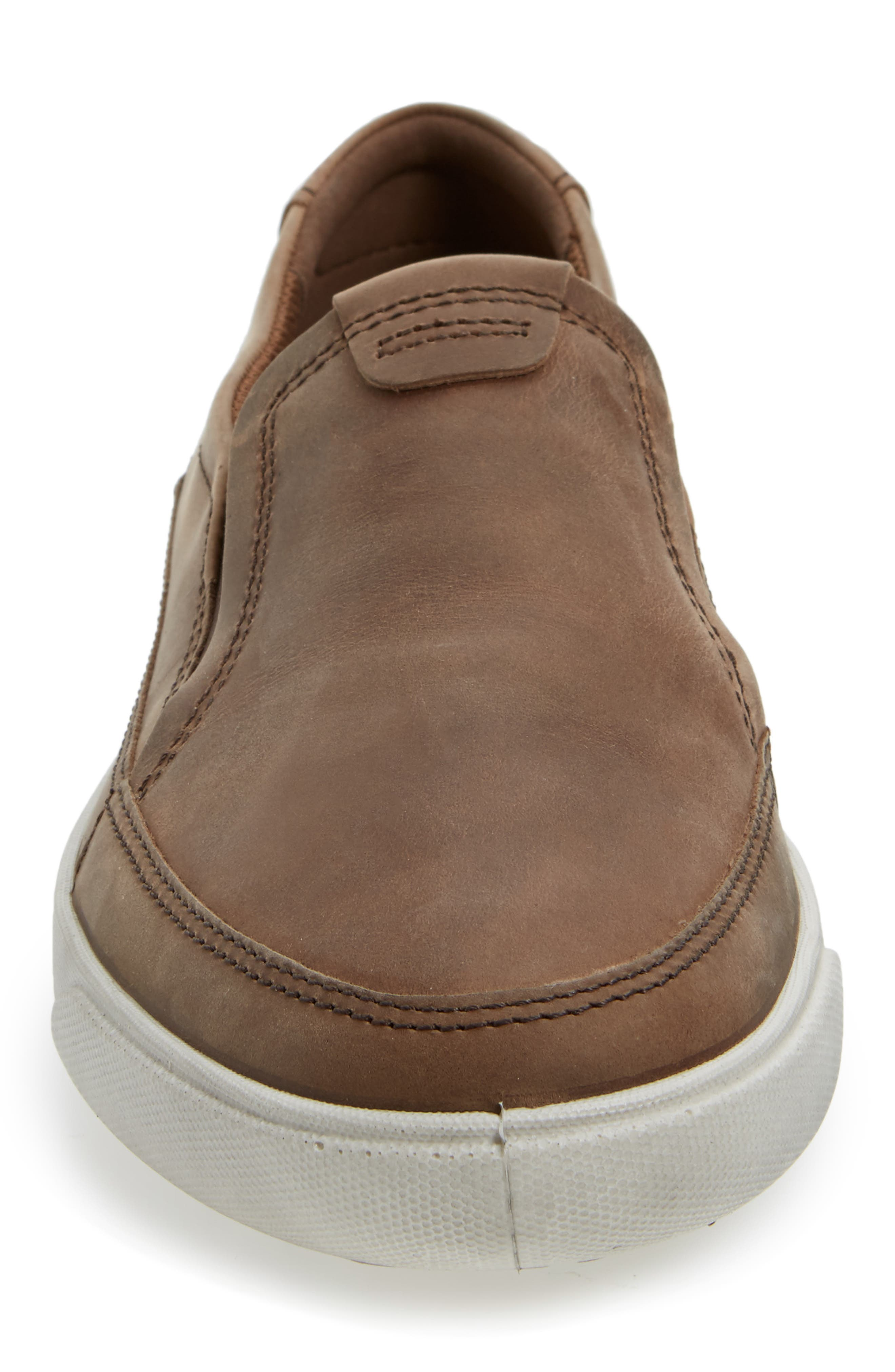 'Gary' Slip-On,                             Alternate thumbnail 4, color,                             COCOA BROWN LEATHER