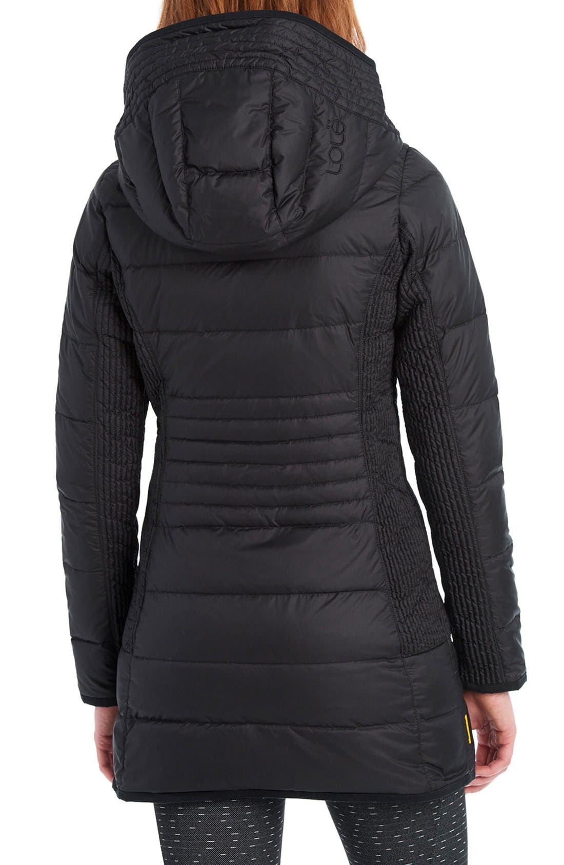 LOLE,                             'Gisele' Water Resistant Quilted Jacket,                             Alternate thumbnail 2, color,                             001