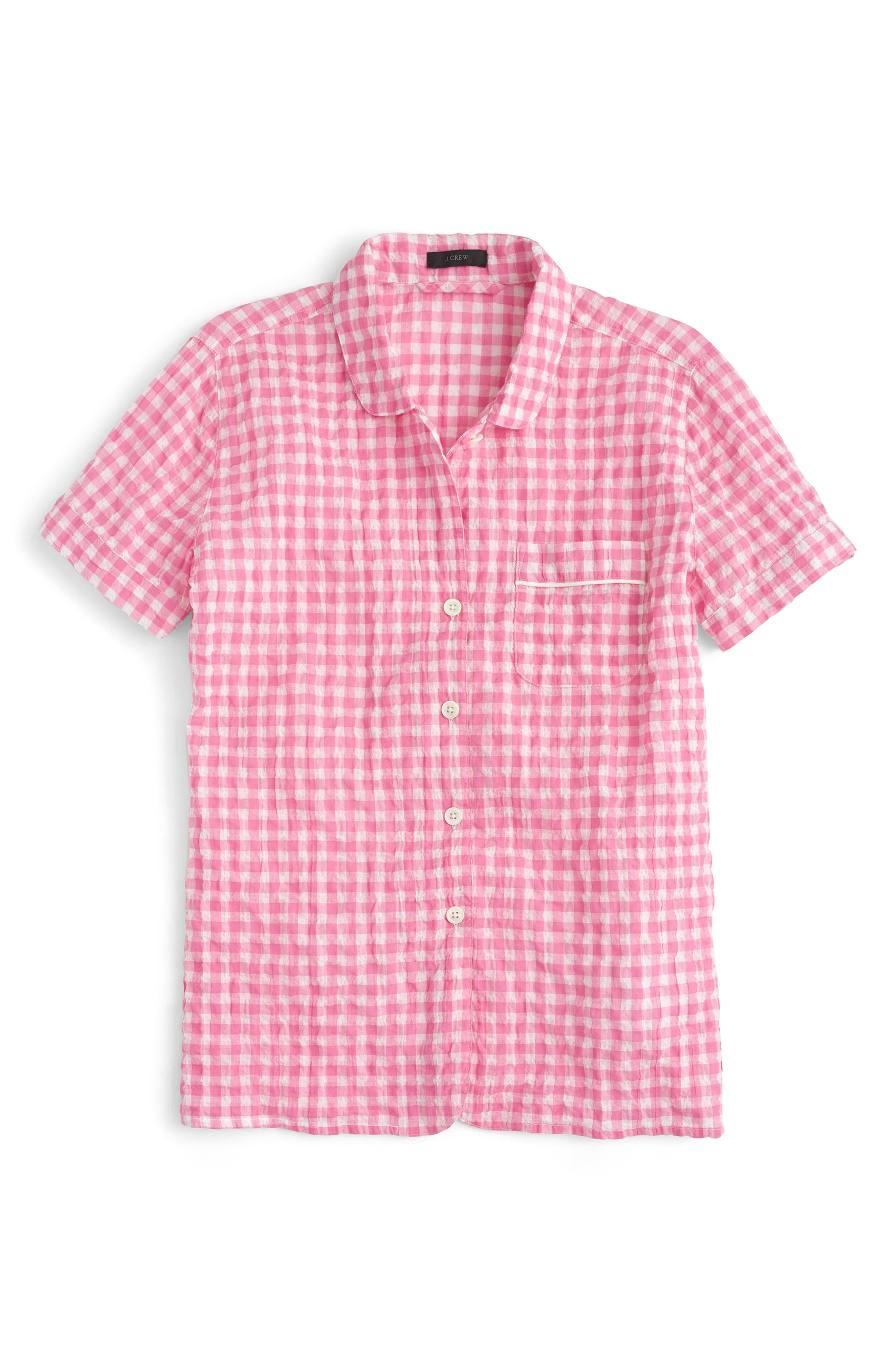 Gingham Pajama Set,                             Alternate thumbnail 8, color,