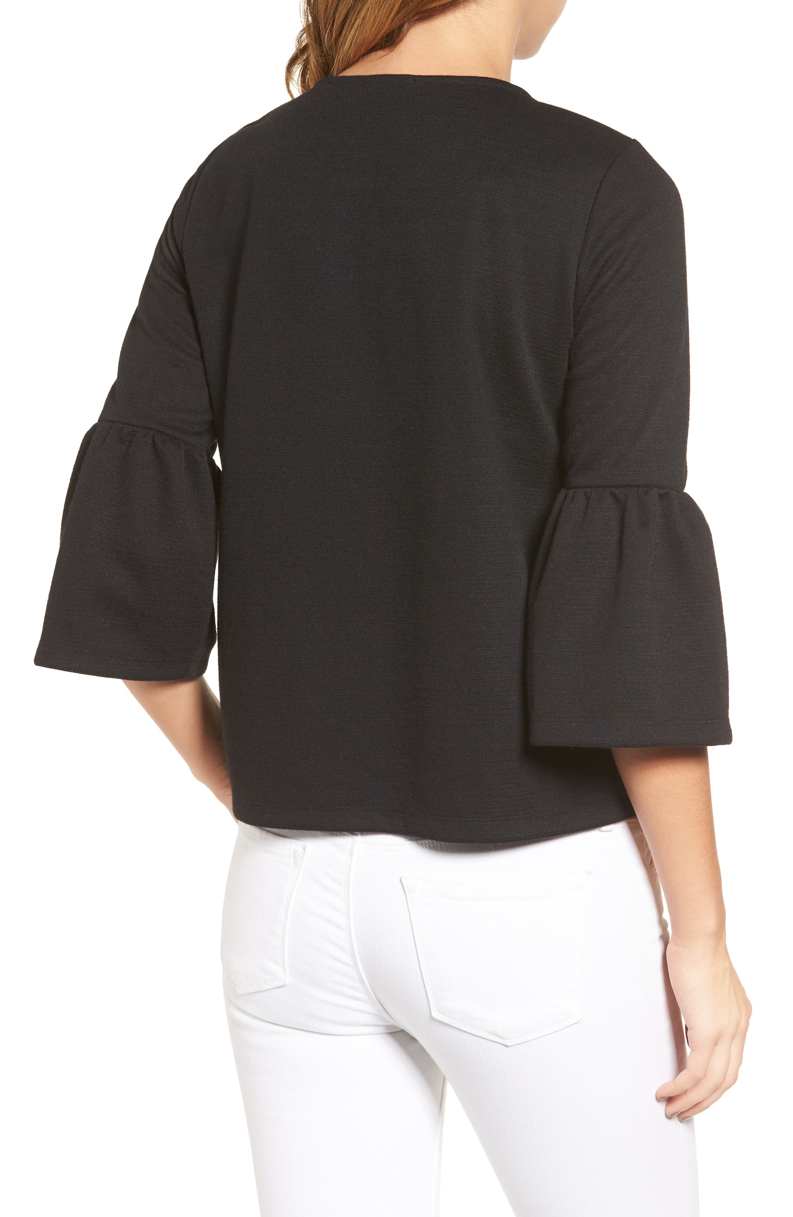 HALOGEN<SUP>®</SUP>,                             Bell Sleeve Top,                             Alternate thumbnail 2, color,                             001
