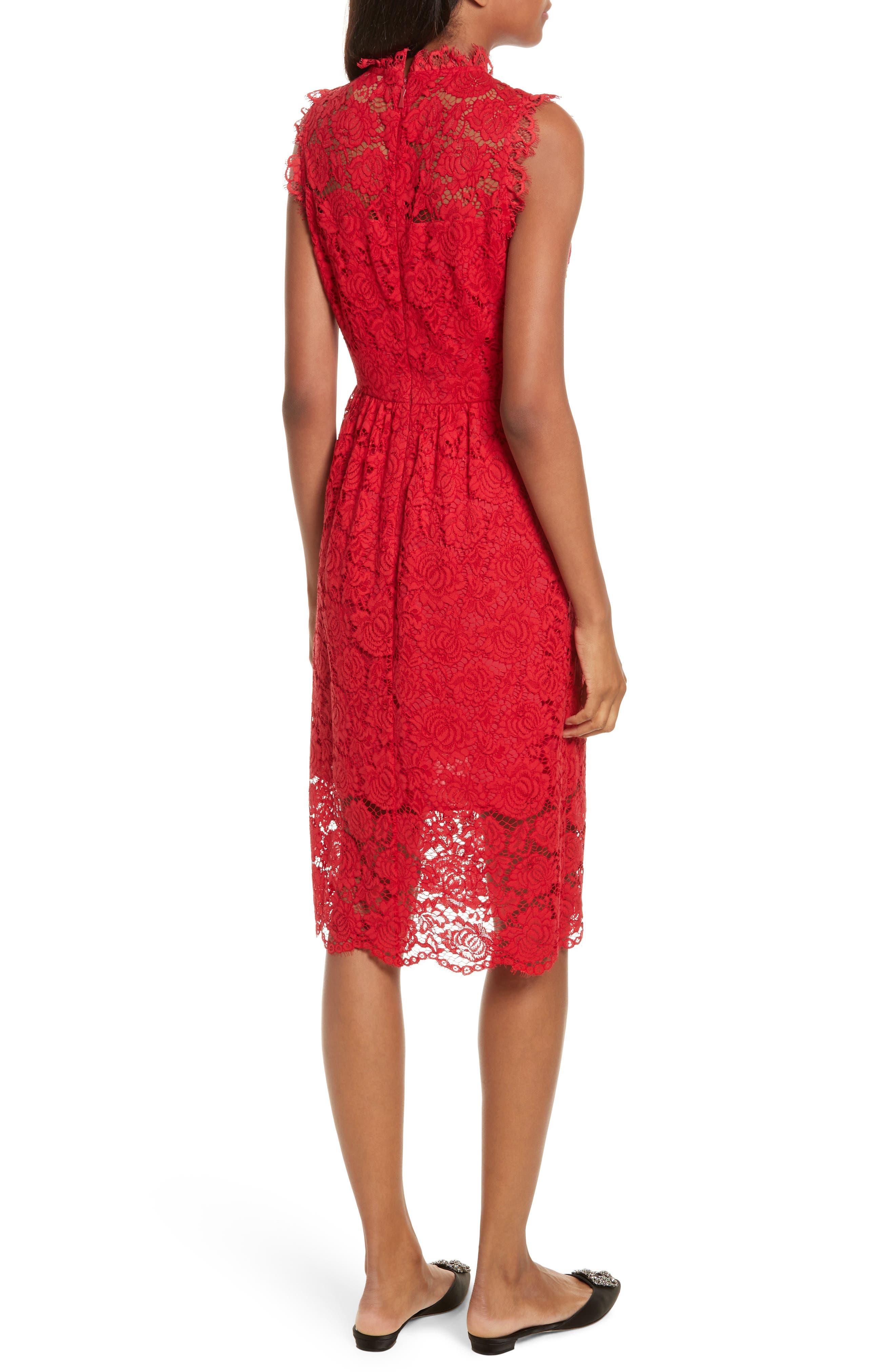 kate spade poppy lace dress,                             Alternate thumbnail 2, color,                             622