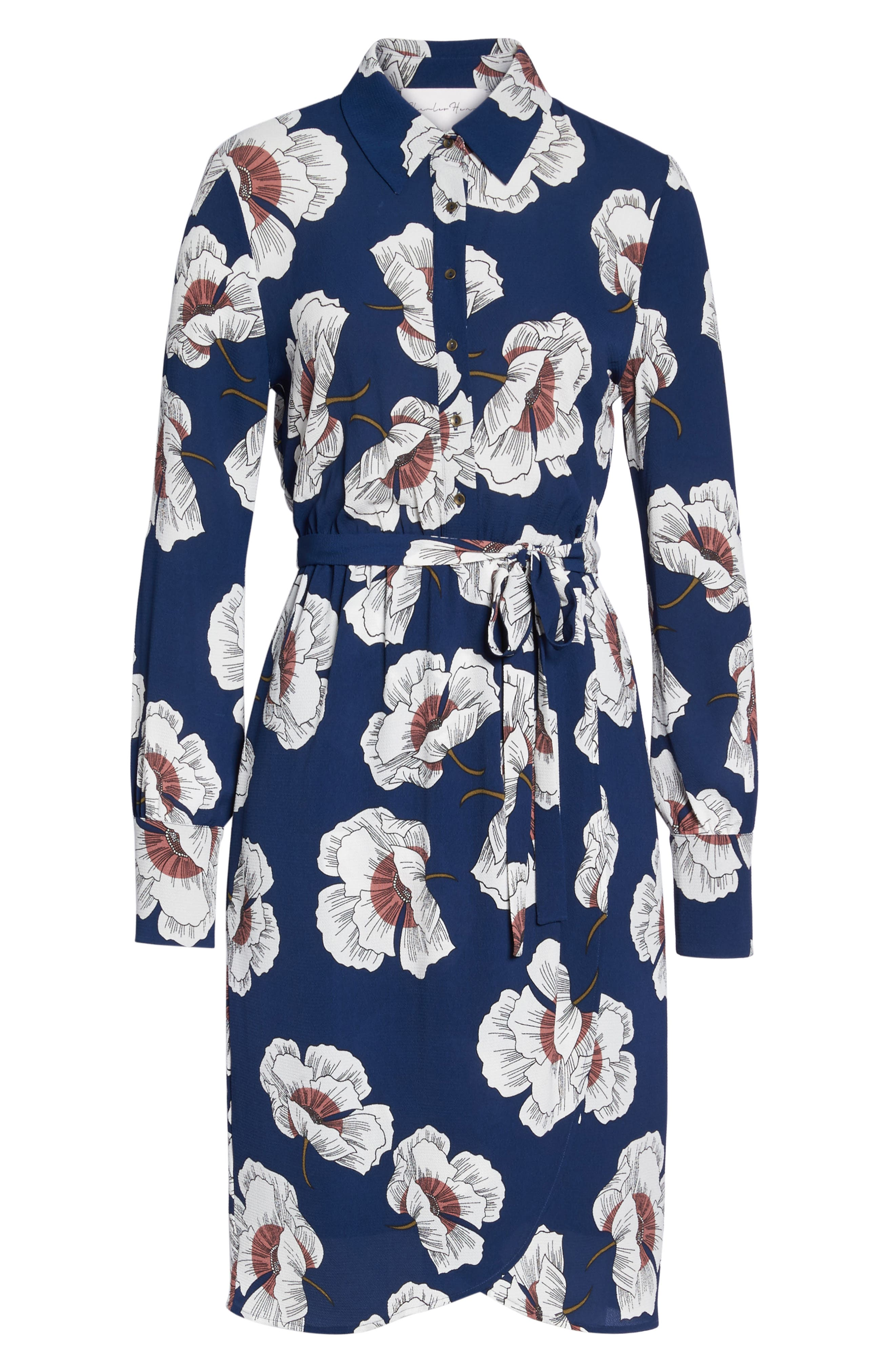 Floral Shirtdress,                             Alternate thumbnail 6, color,                             473