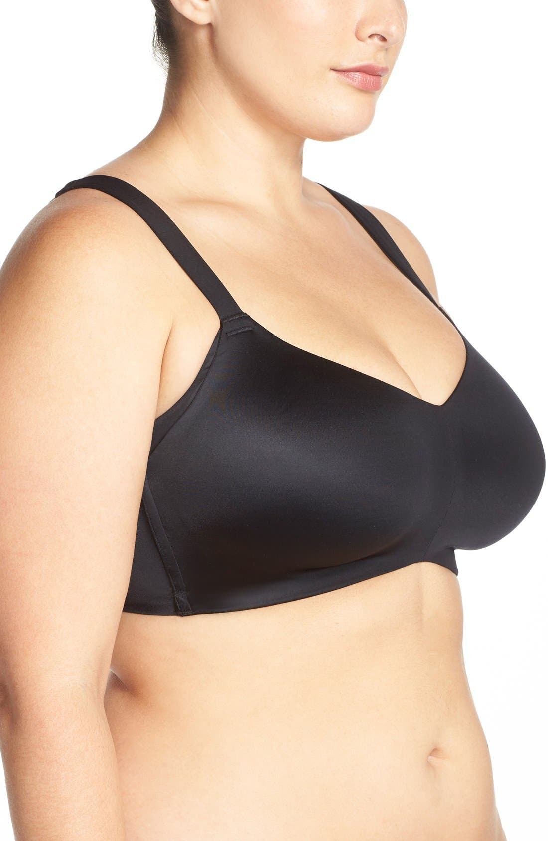 'Smoothing Solutions' Wireless Contour Bra,                             Alternate thumbnail 4, color,                             001