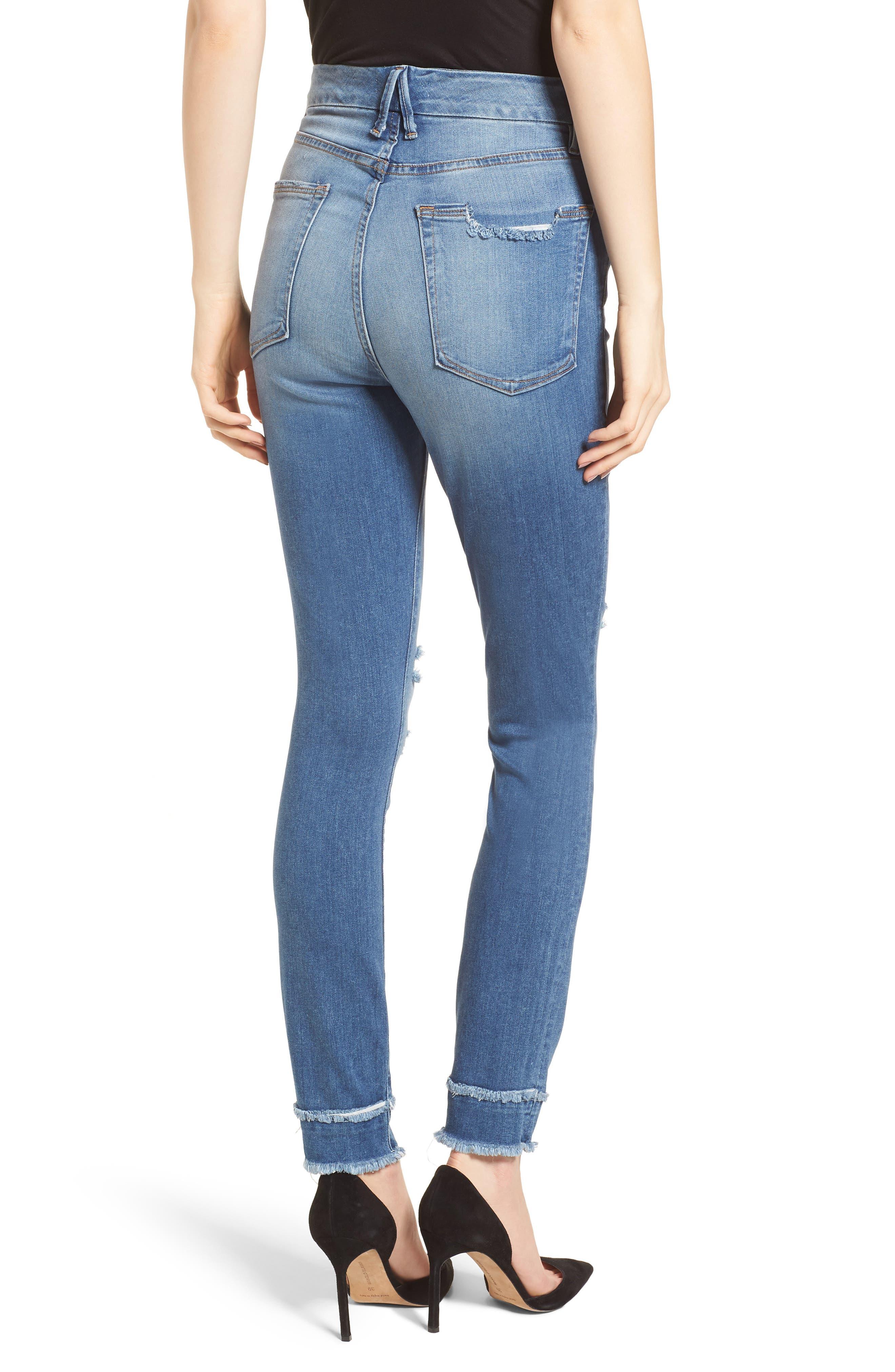 Good Waist High Waist Skinny Jeans,                             Alternate thumbnail 2, color,                             401